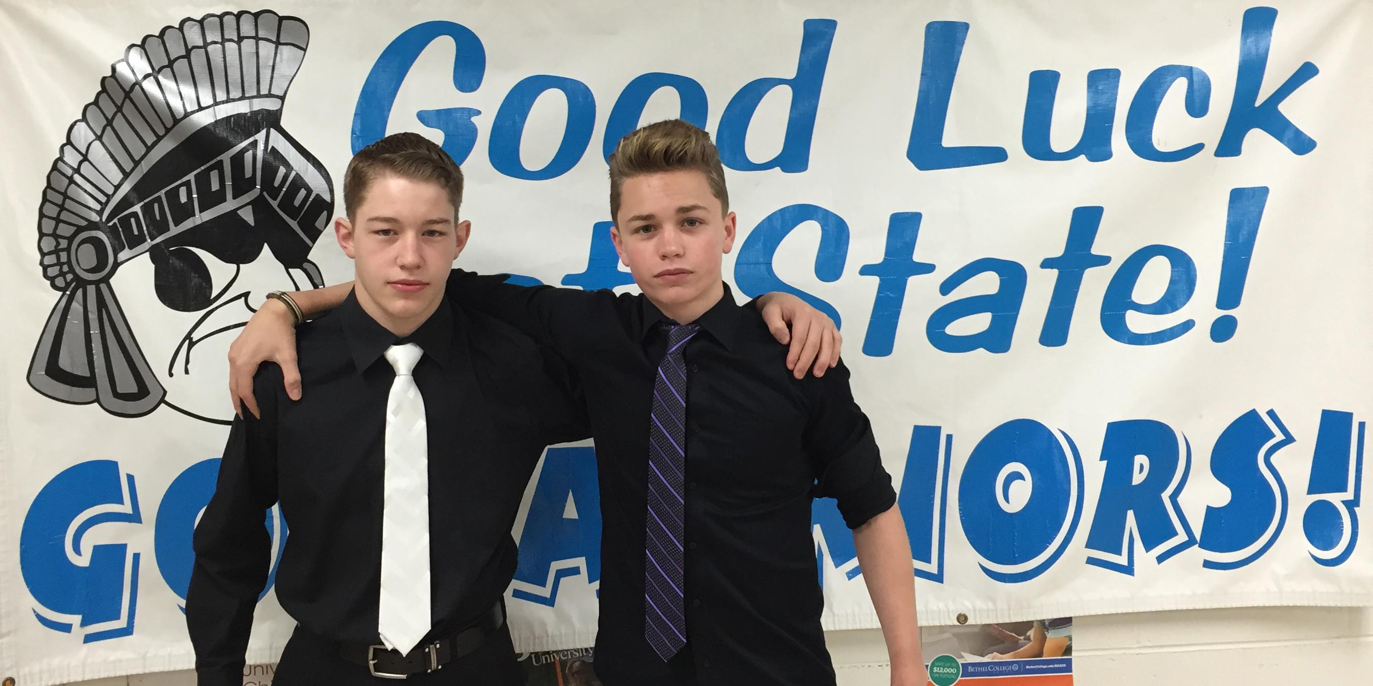 Willowbrook hosts State sendoff celebration for two members of the Boys Gymnastics Team