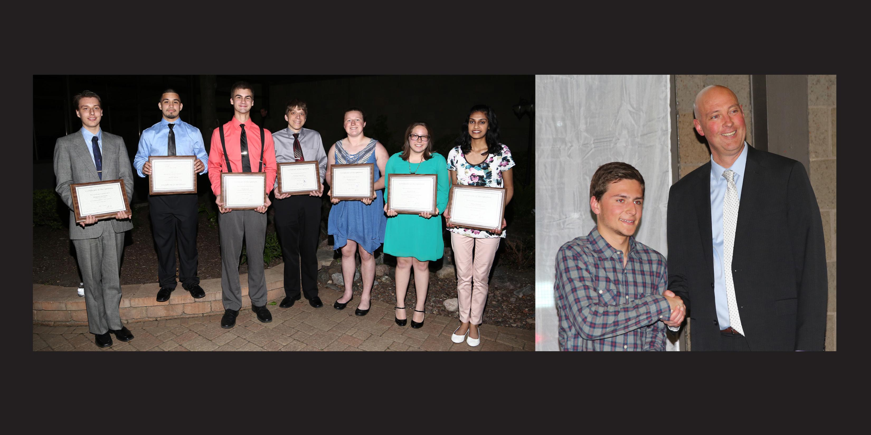Eleven District 88 students honored during TCD Senior Awards Night