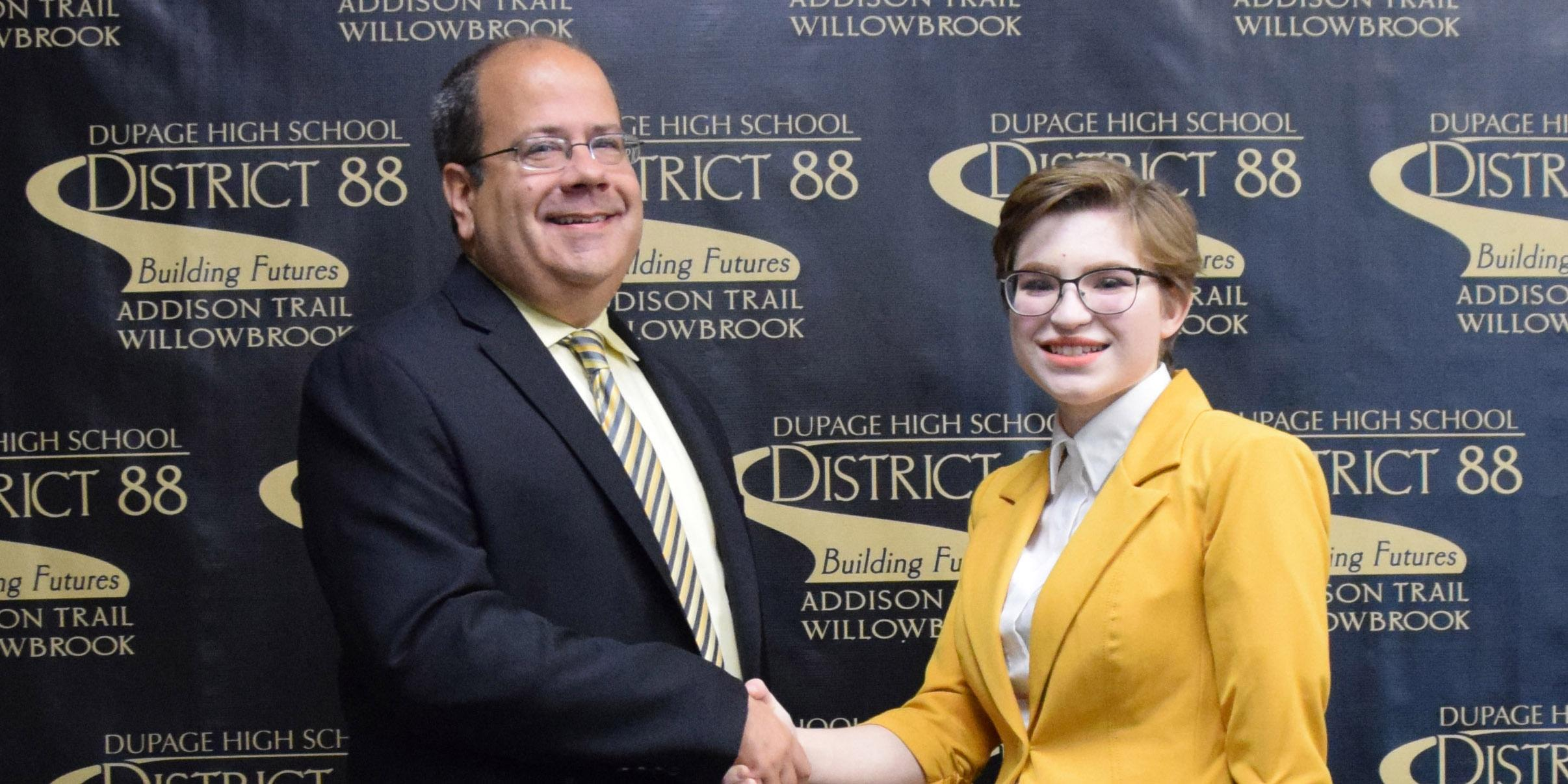 Addison Trail names October recipient of 88's Best recognition