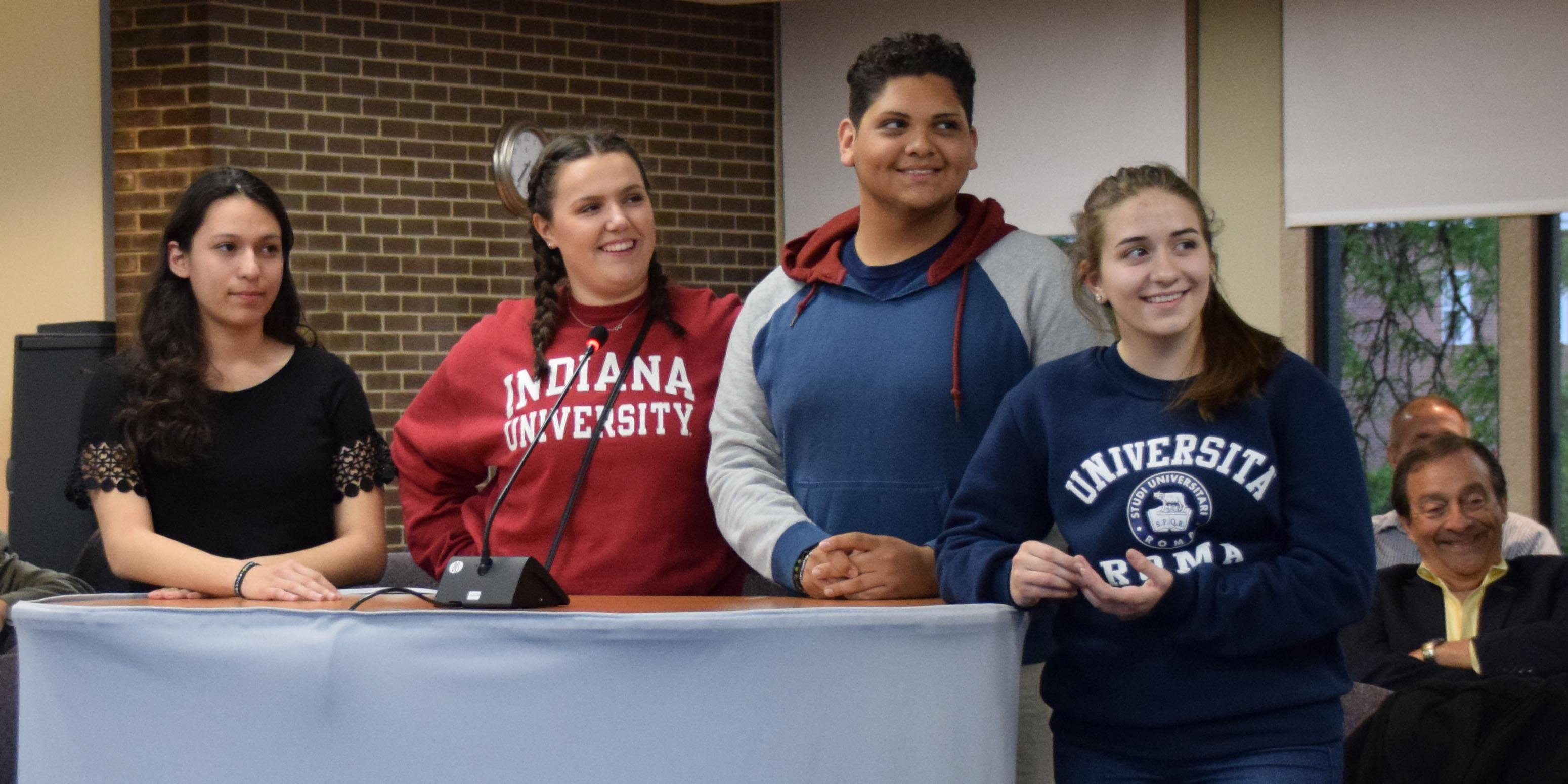 Addison Trail students present to District 88 Board of Education on educational trip to Italy