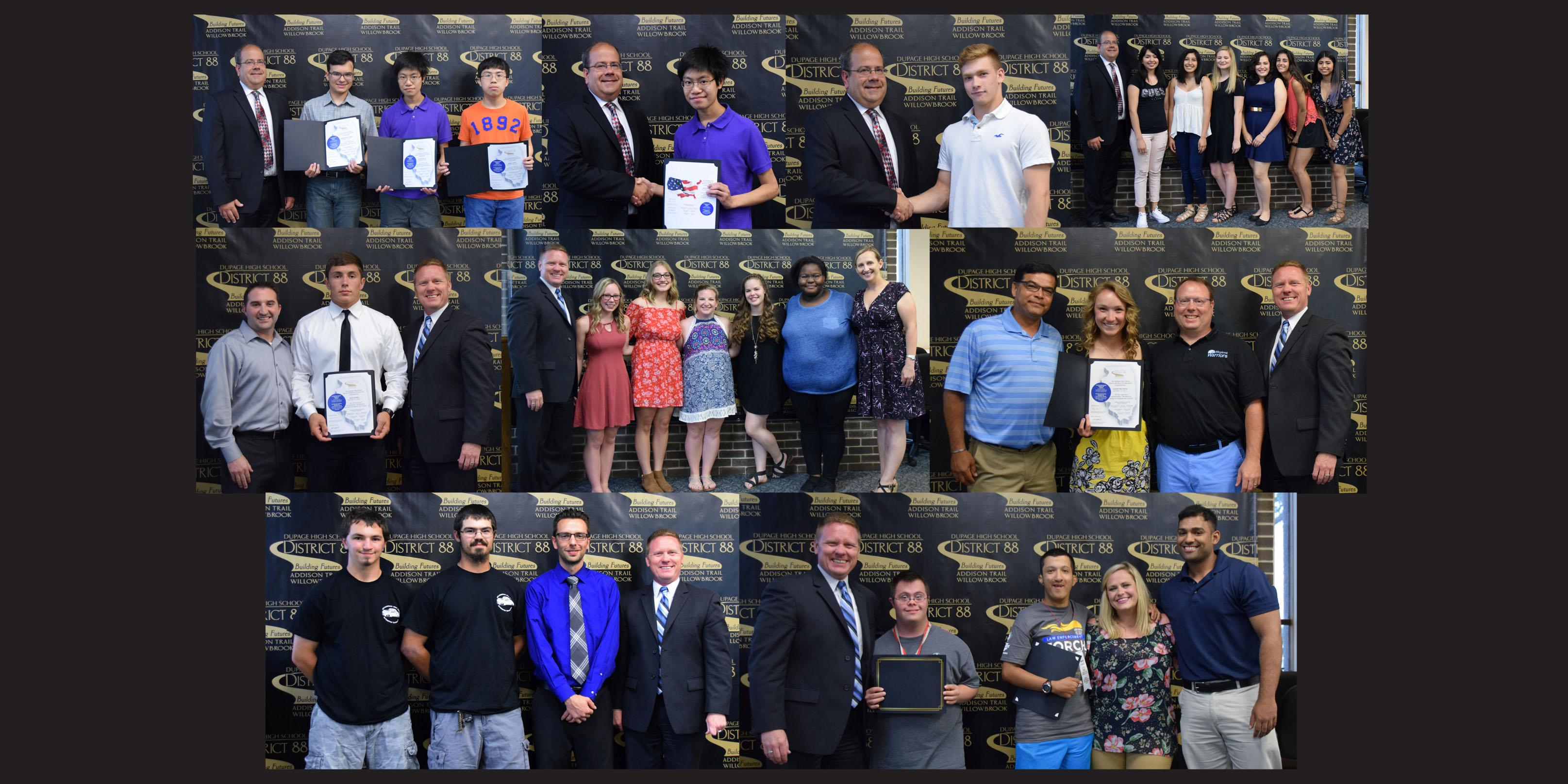 District 88 Board of Education recognizes students for spring State-level and National-level accomplishments