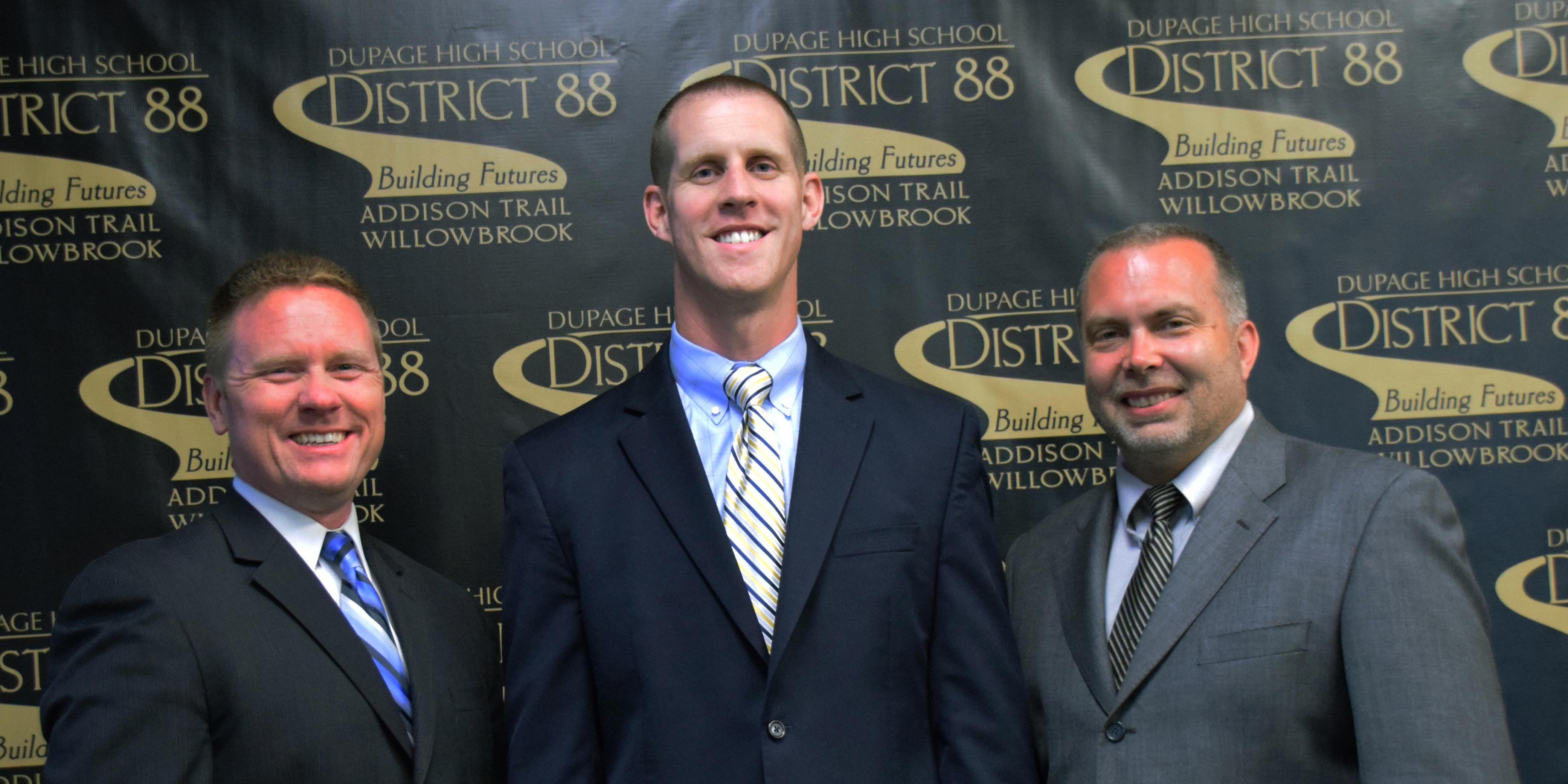 District 88 Board of Education recognizes three administrators for earning doctoral degrees