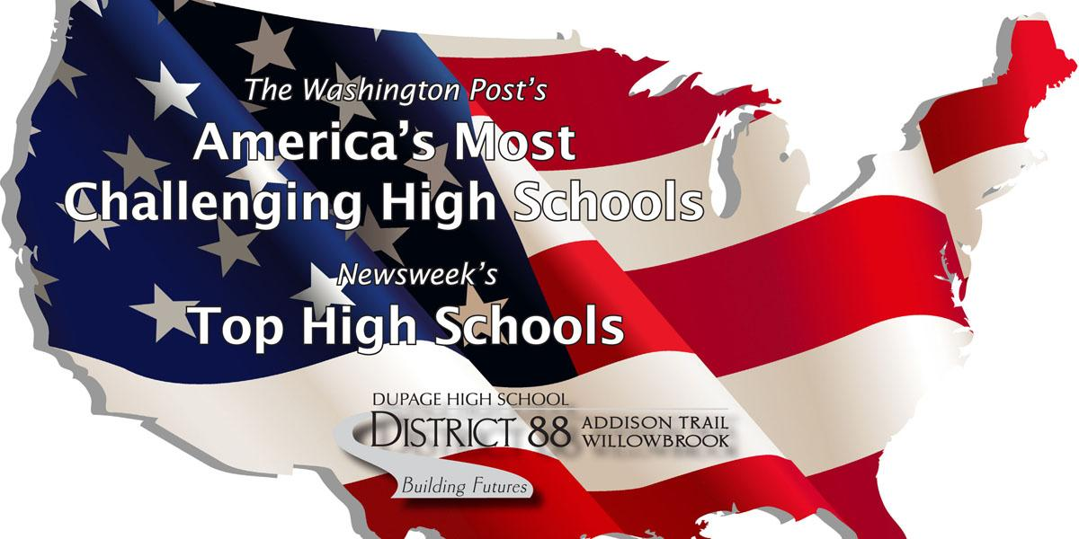 District 88 receives 'America's Most Challenging High Schools' and 'Top High Schools' honors