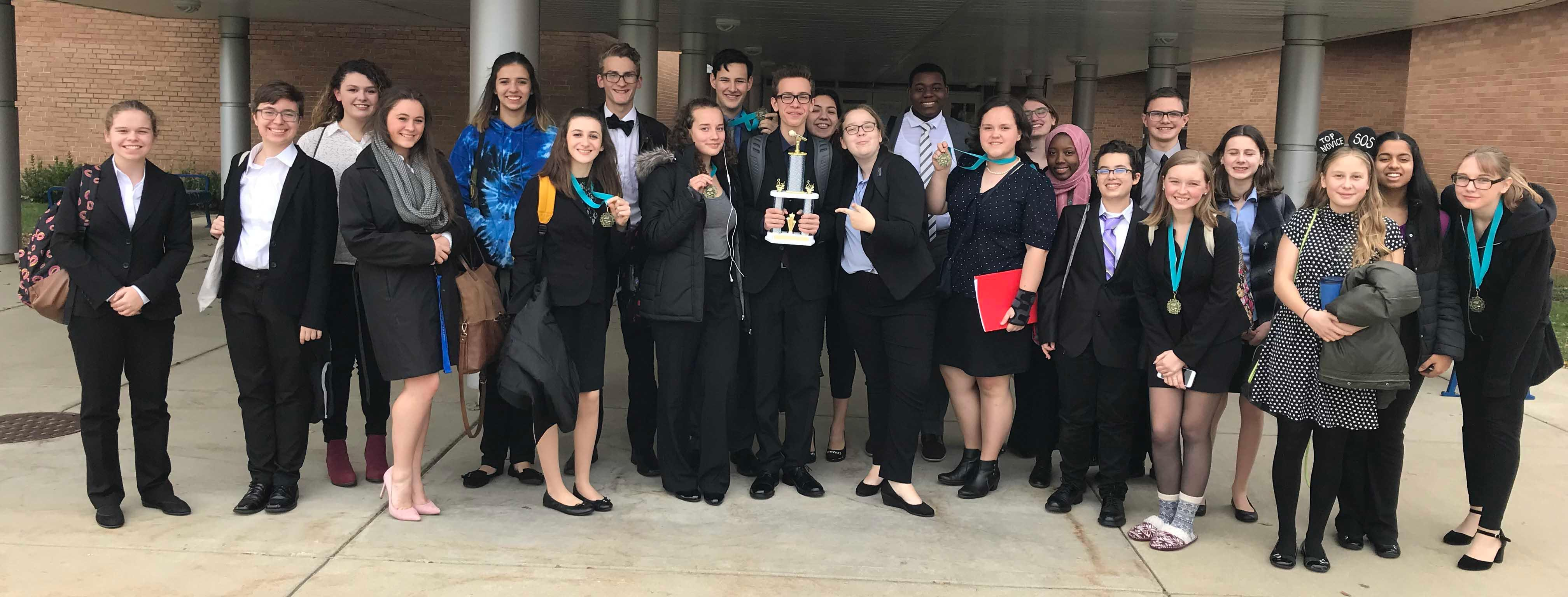 Willowbrook Speech Team earns awards at Joliet West High School tournament