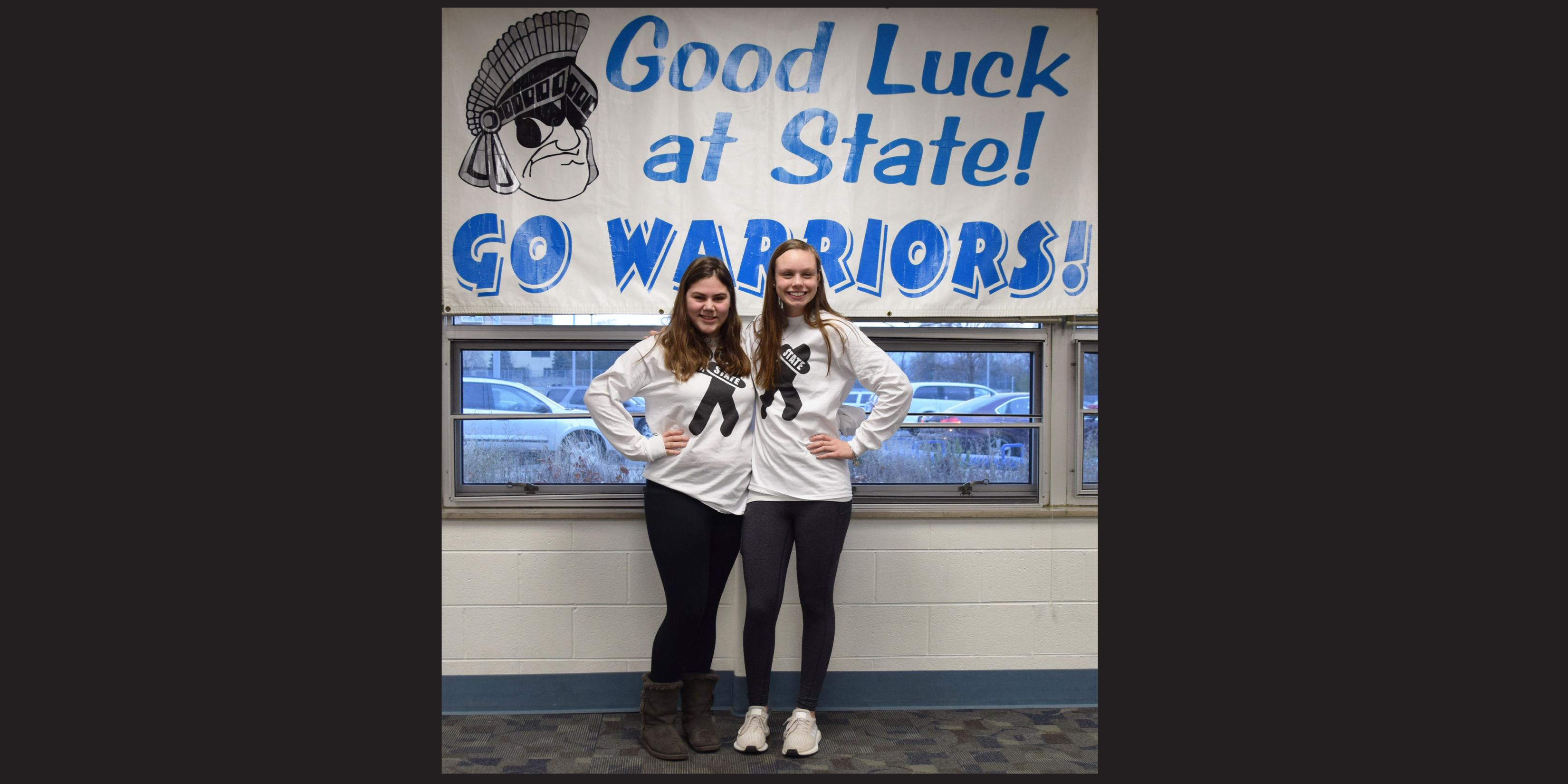 Willowbrook hosts State send-off celebration for two members of Girls Swimming Team