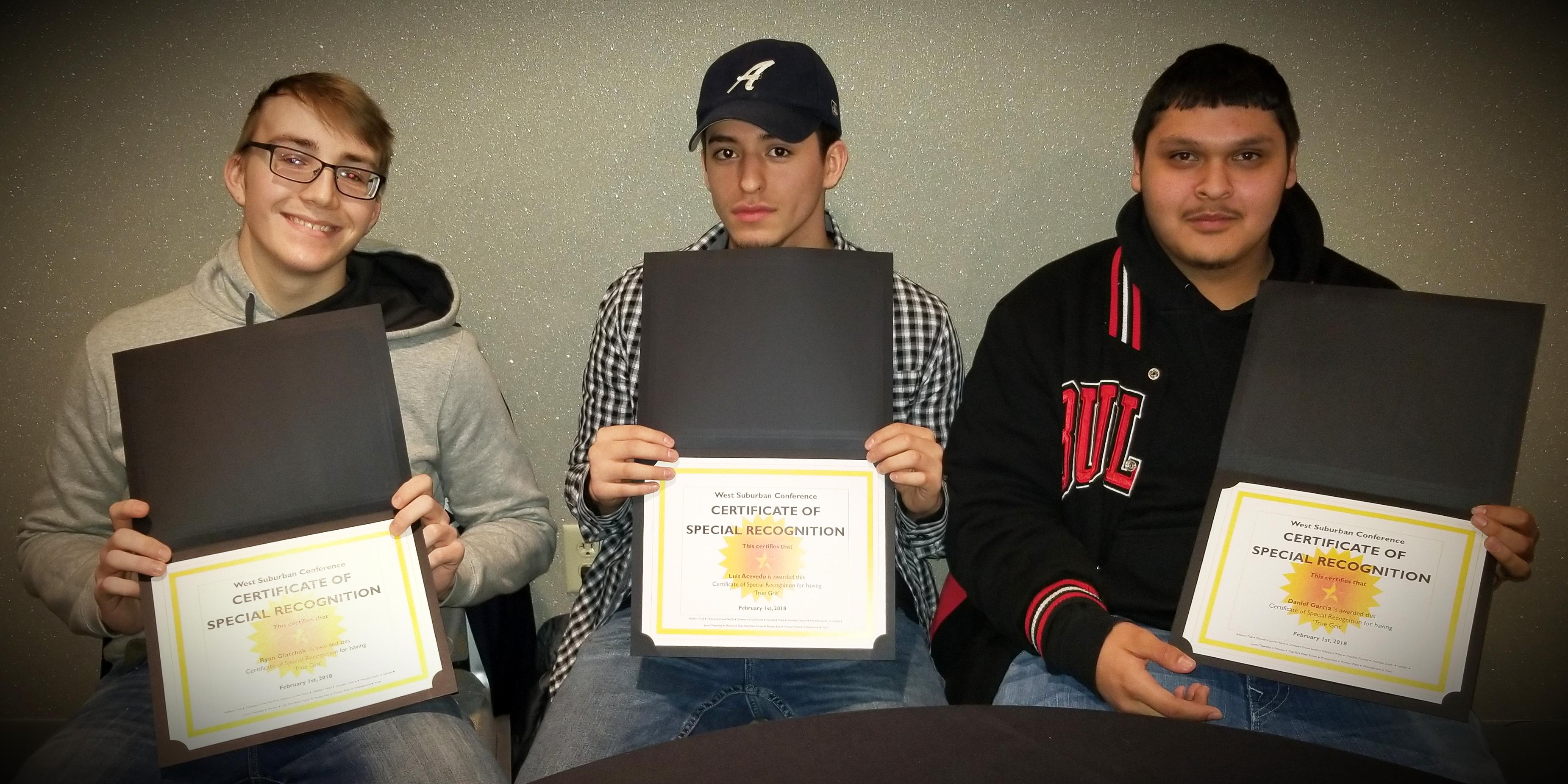 Three Addison Trail students receive West Suburban Conference GRIT Award