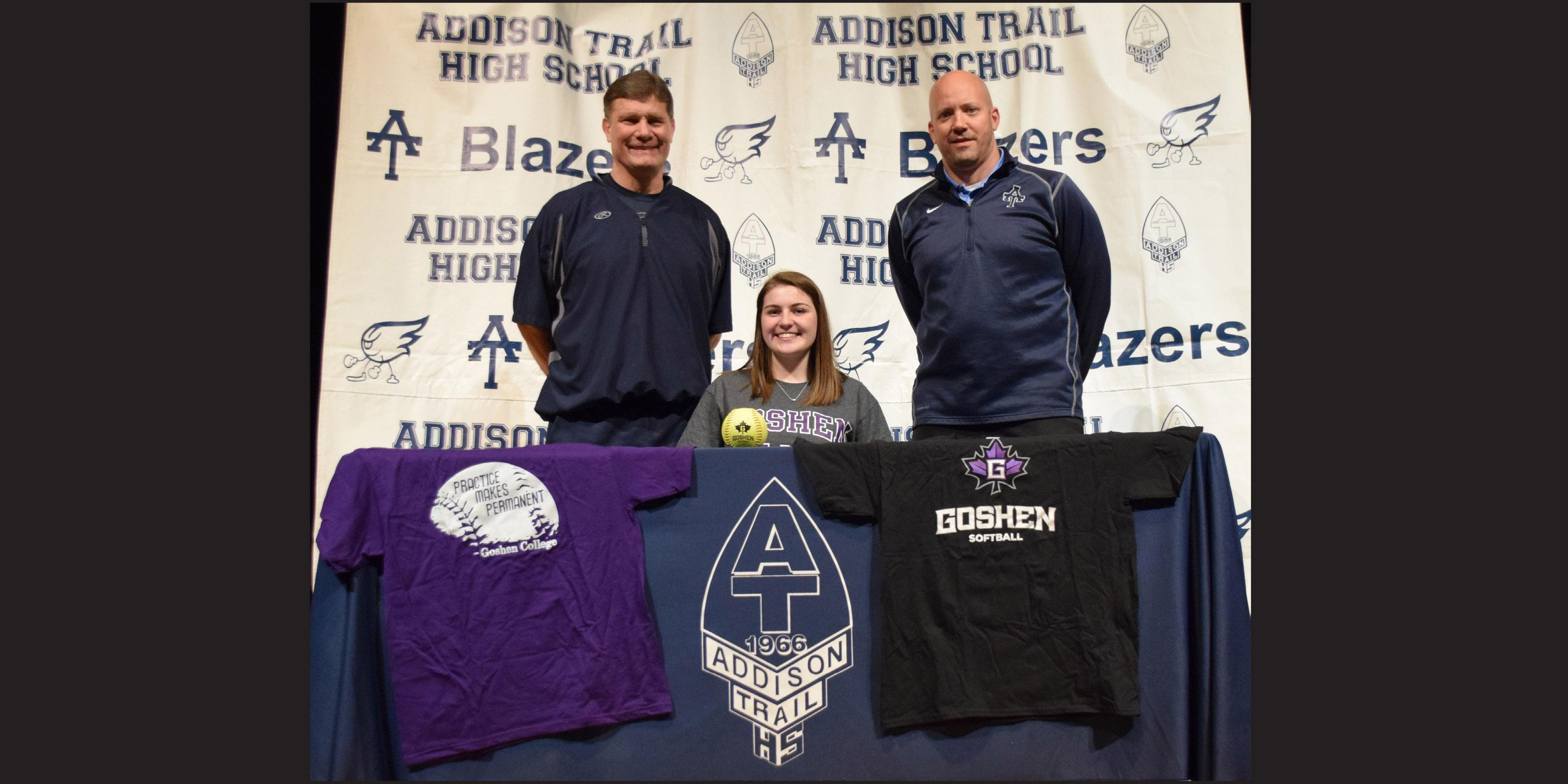 Addison Trail senior signs to play softball at Goshen College