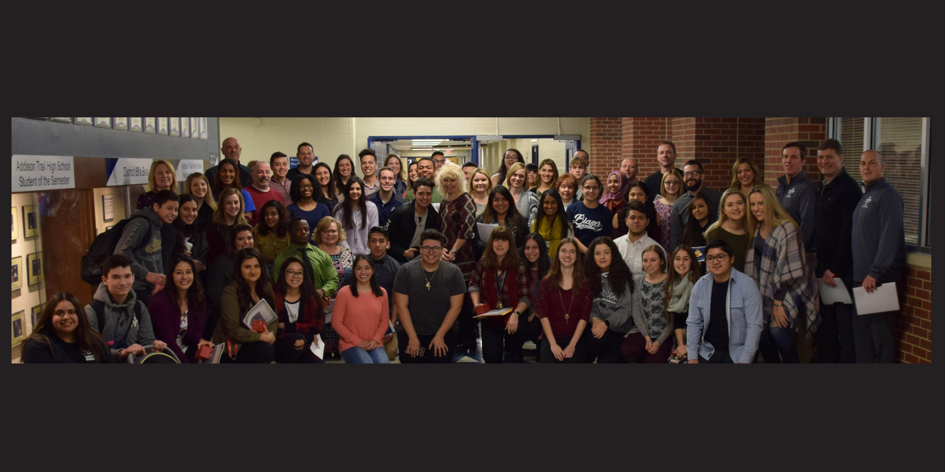 Thirty-six staff members honored with Addison Trail's Golden Apple award