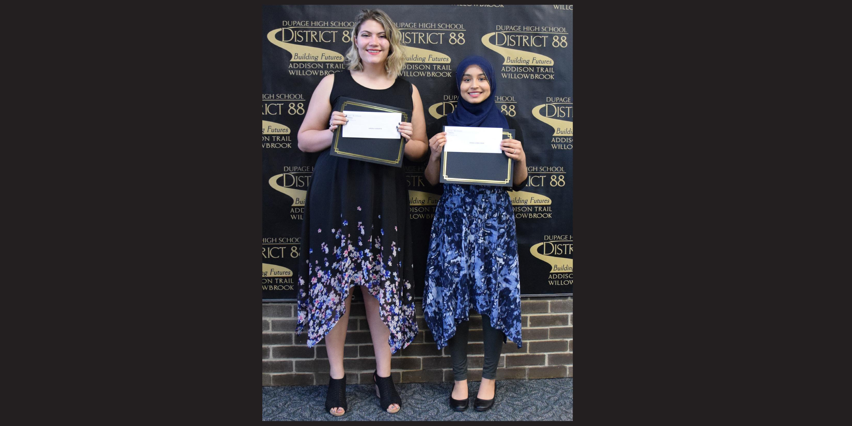 Two District 88 students named as David Koch/Board of Education Scholarship recipients
