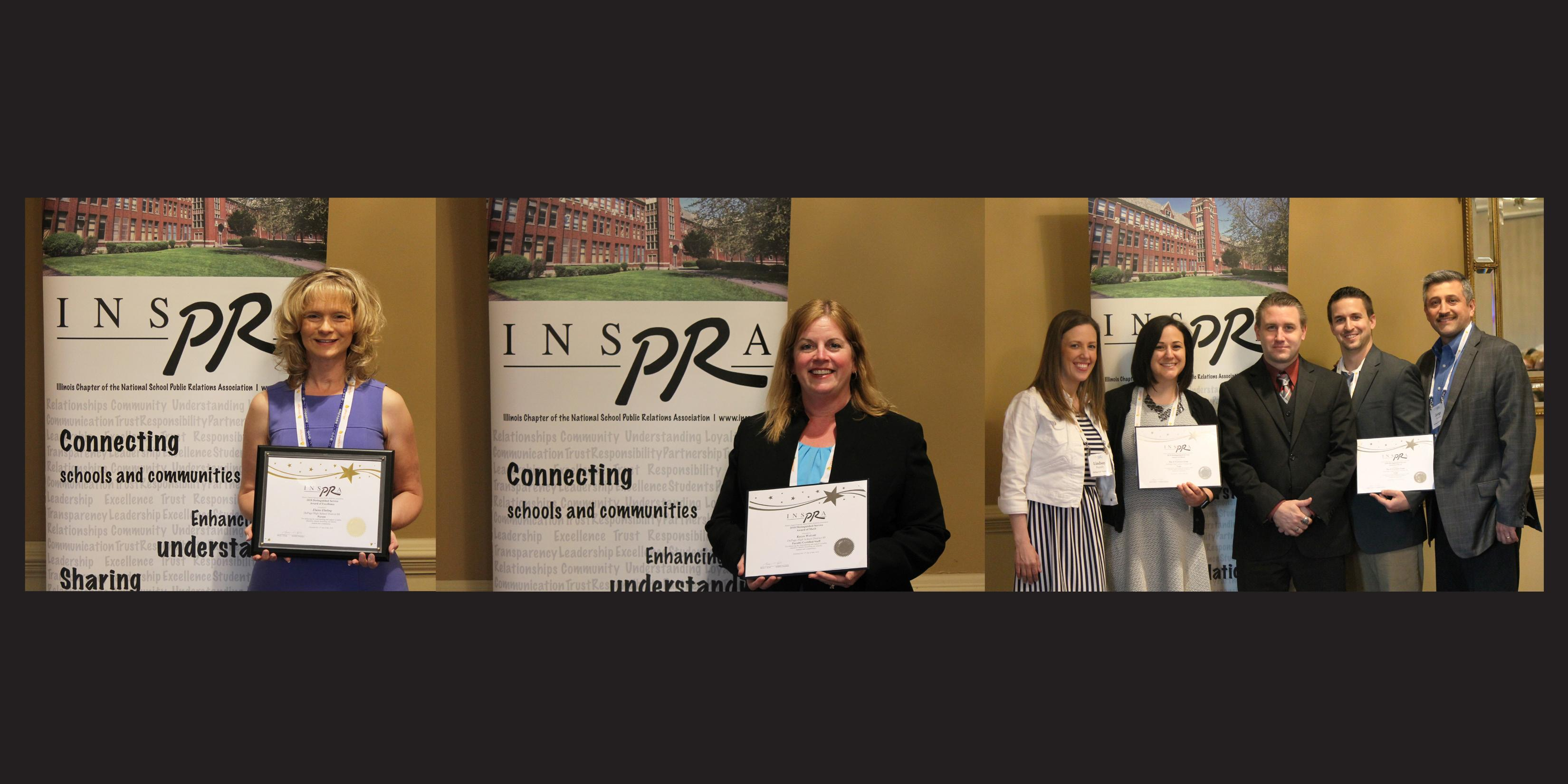 District 88 honored with three state-level INSPRA Distinguished Service Awards
