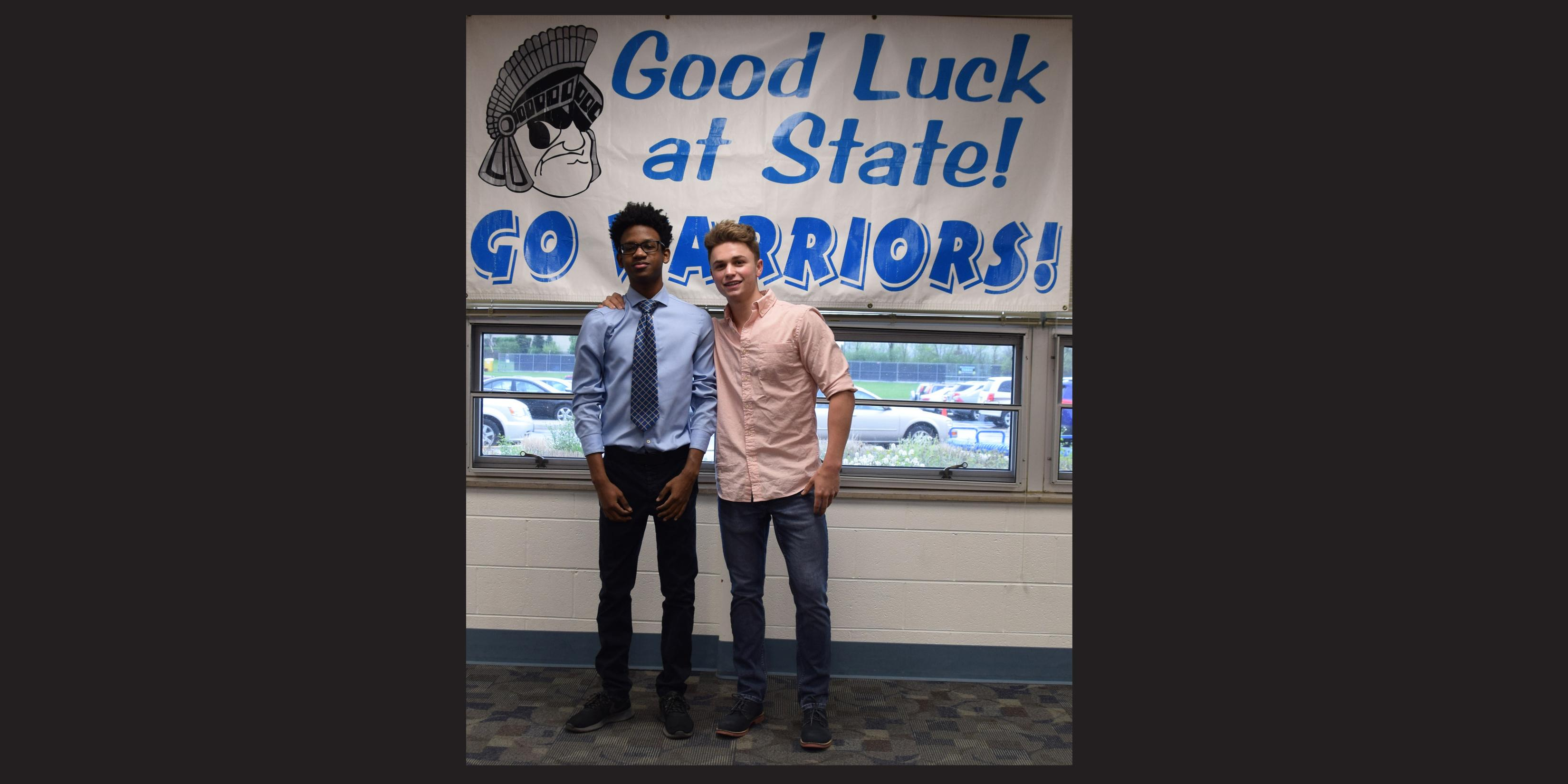 Willowbrook hosts State send-off celebration for two members of Boys Gymnastics Team
