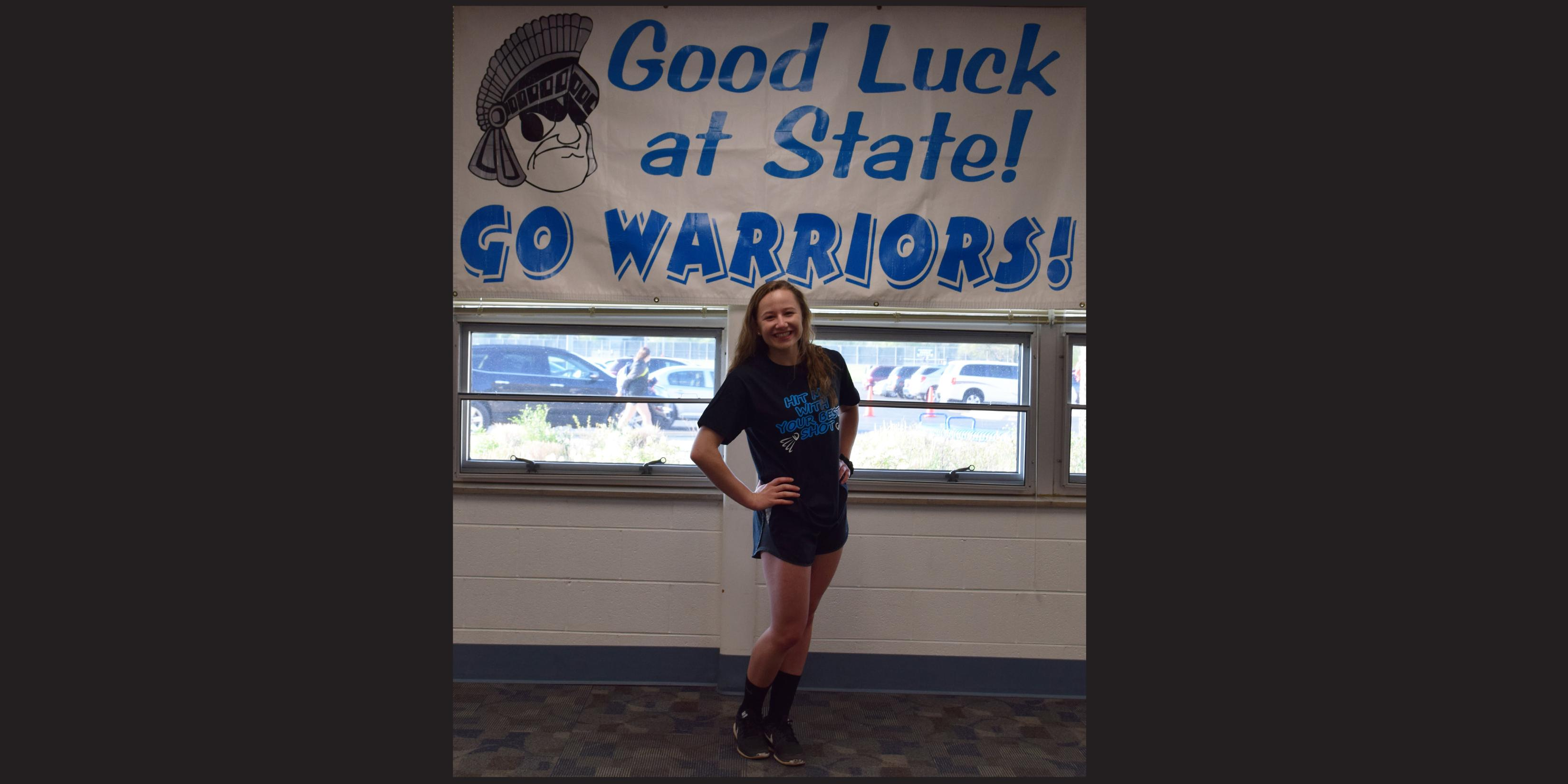 Willowbrook hosts State send-off celebration for member of Girls Badminton Team