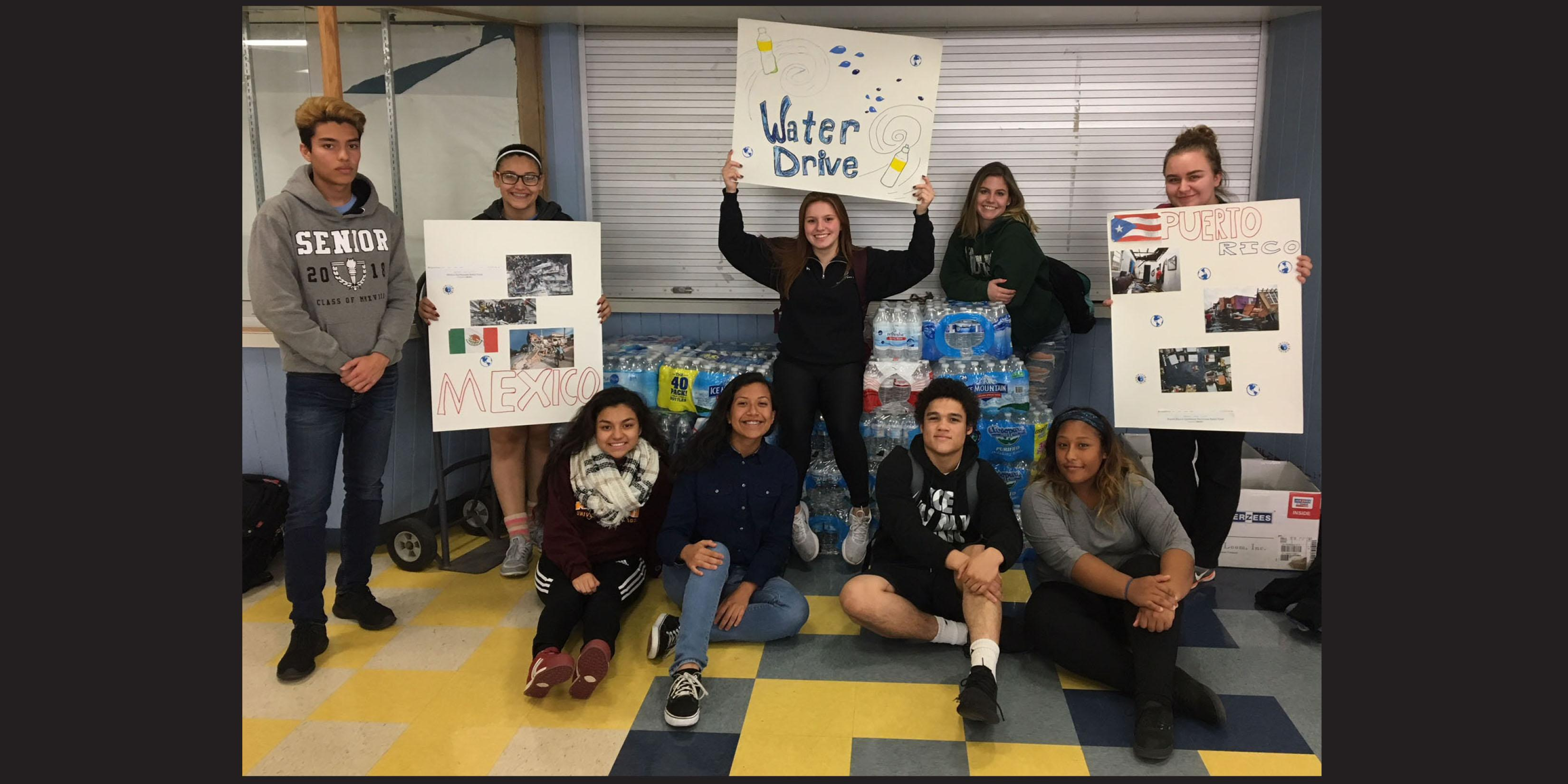 Willowbrook collects cases of water, monetary donations to aid Puerto Rico and Mexico City