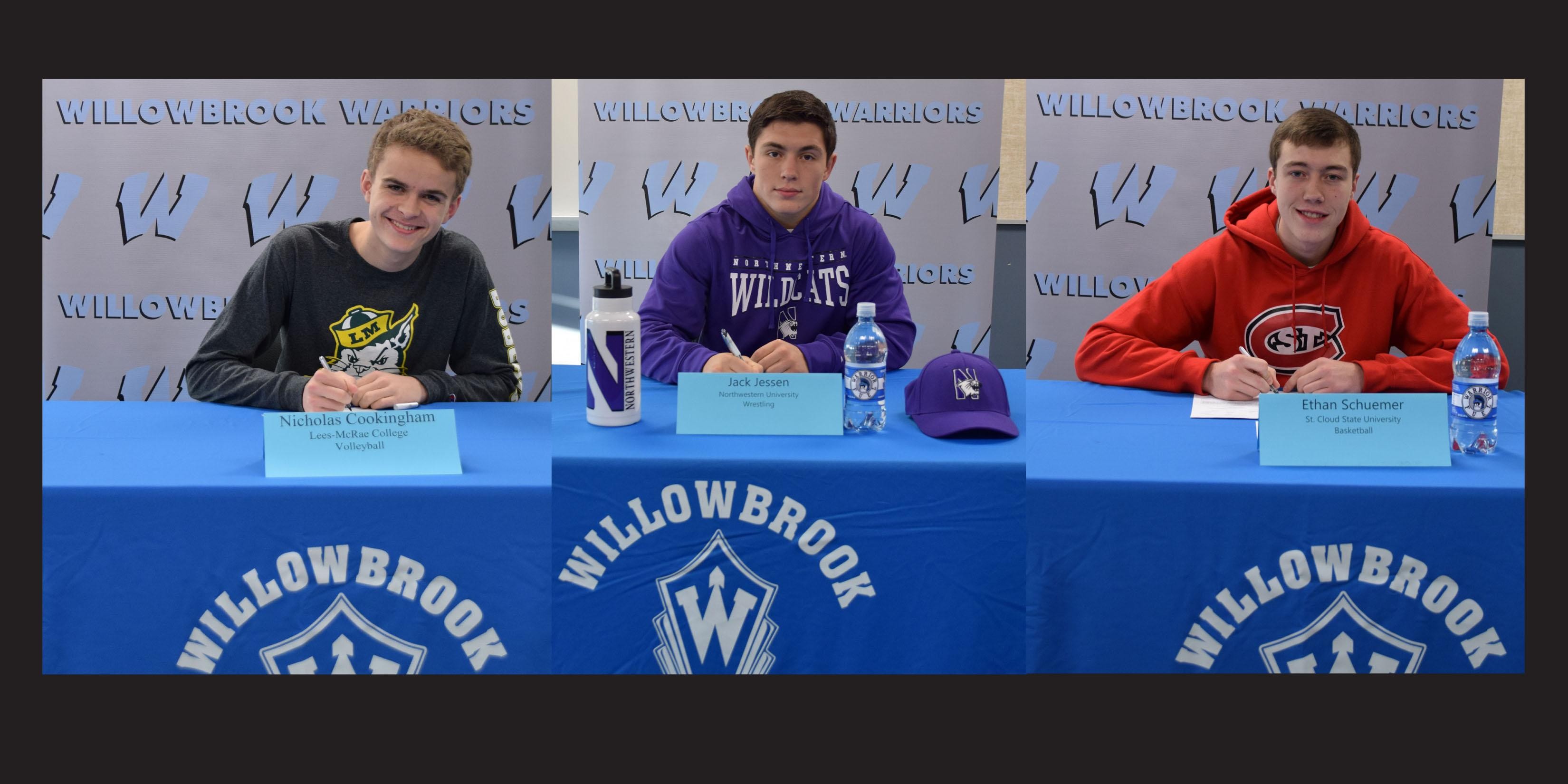 Willowbrook hosts National Letter of Intent Signing Day for three student-athletes