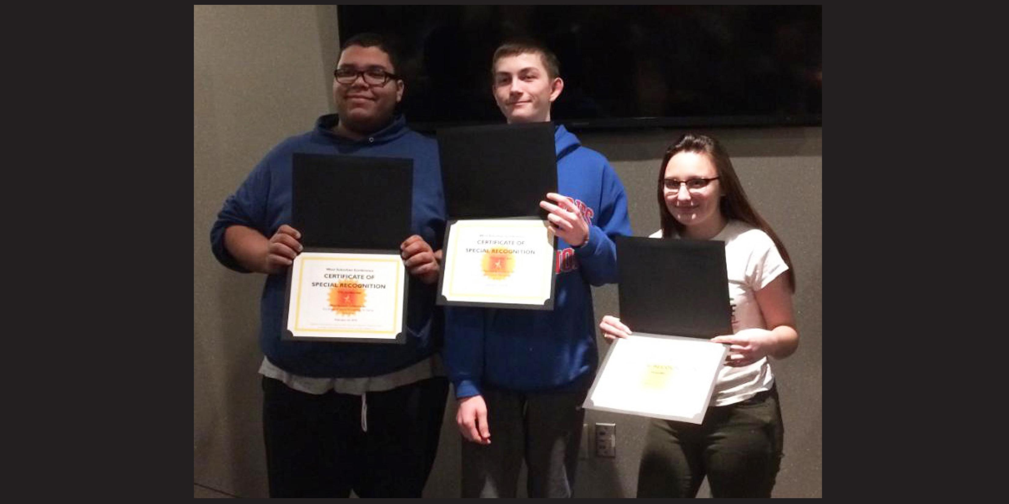 Three Willowbrook students receive West Suburban Conference GRIT Award