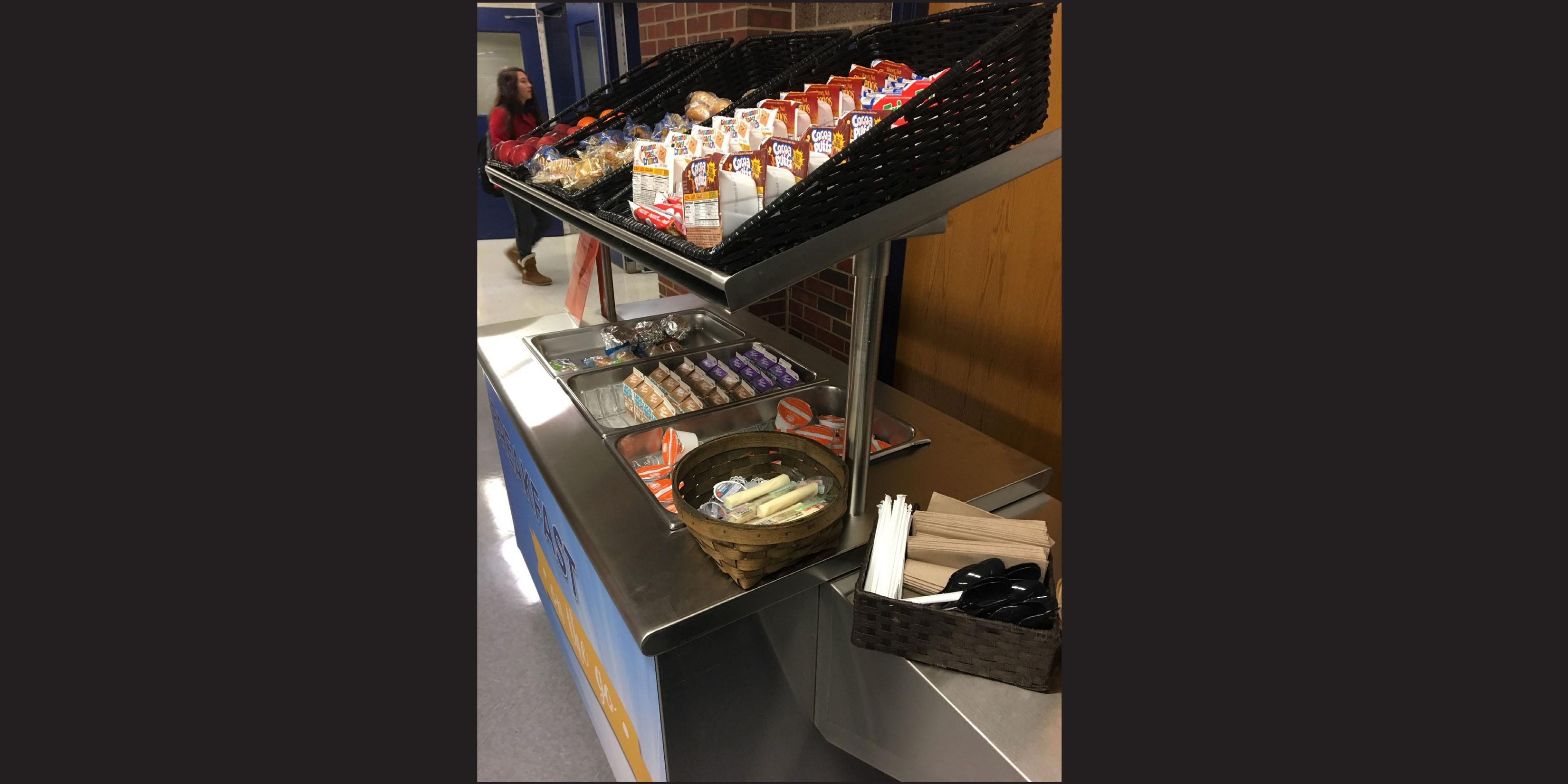 District 88 offers Breakfast Grab-and-Go carts for students