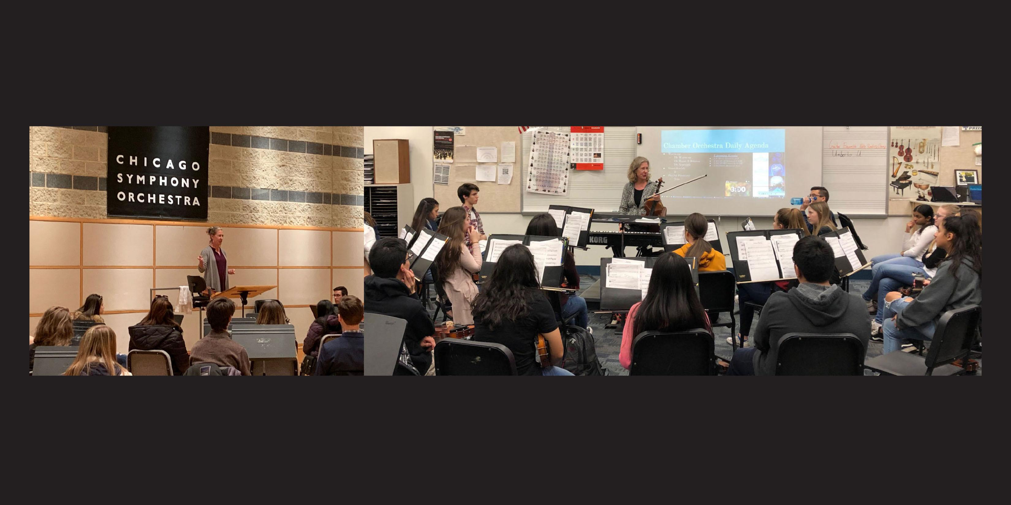 Addison Trail alumna speaks with students about performing with Chicago Symphony Orchestra