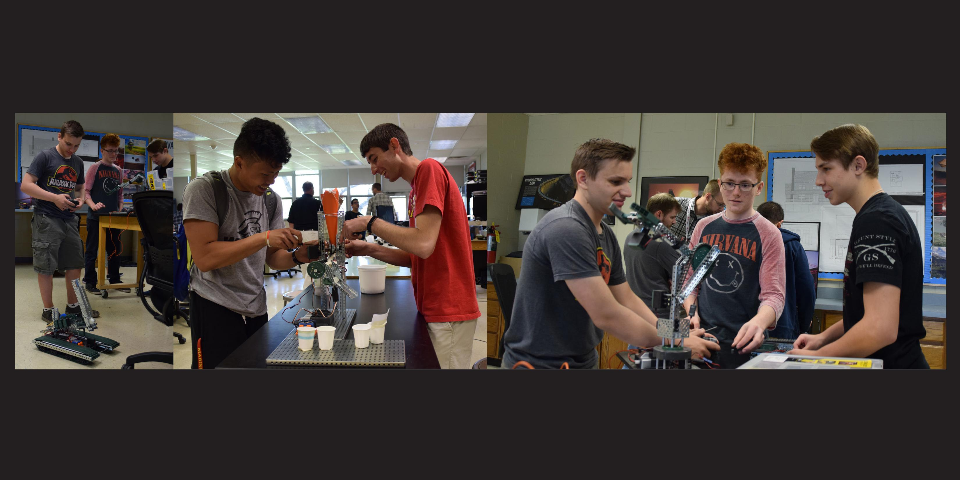 Willowbrook engineering students showcase their machines and 3-D printer creations