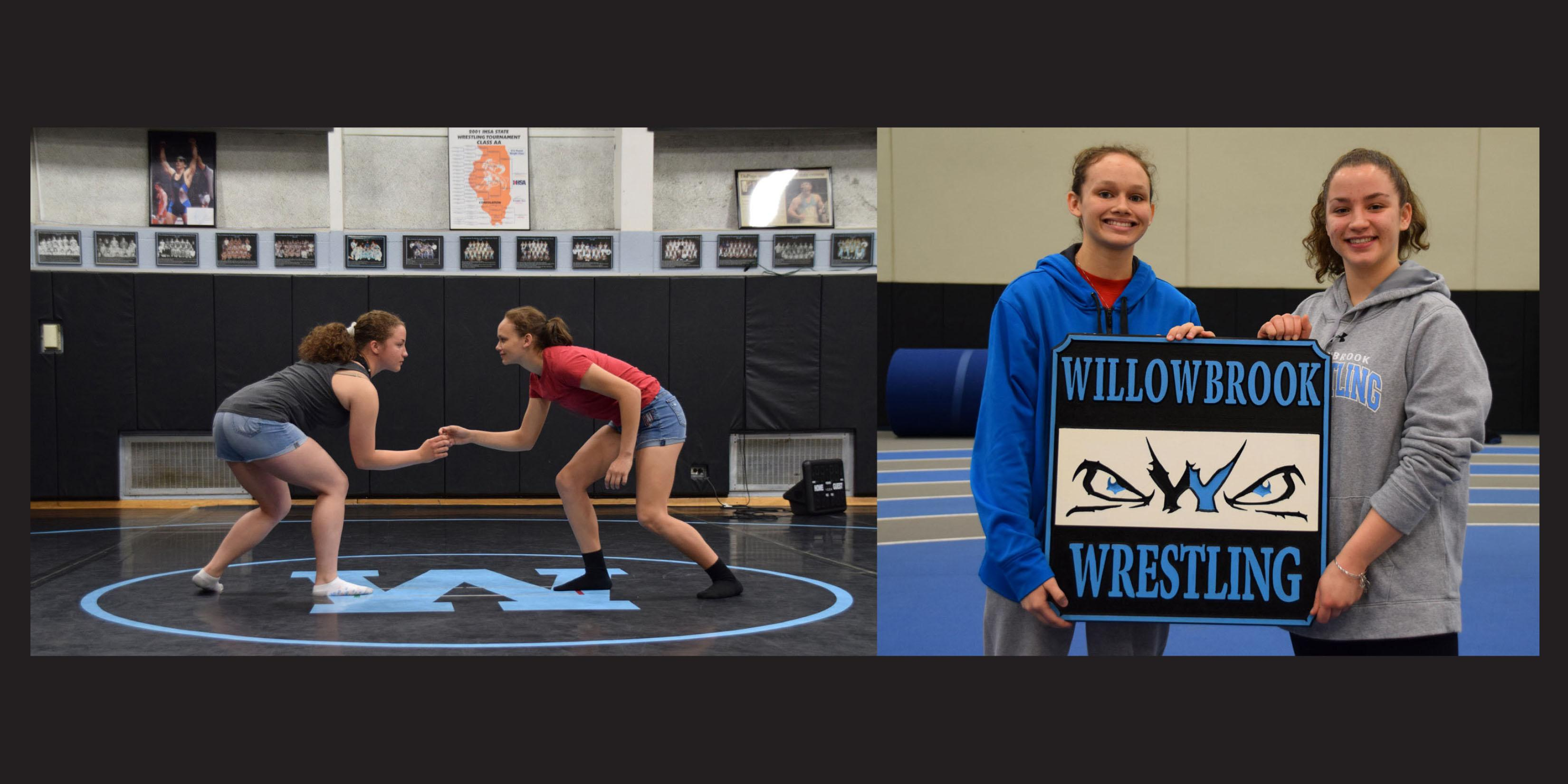 Two Willowbrook freshmen girls make Willowbrook Wrestling history
