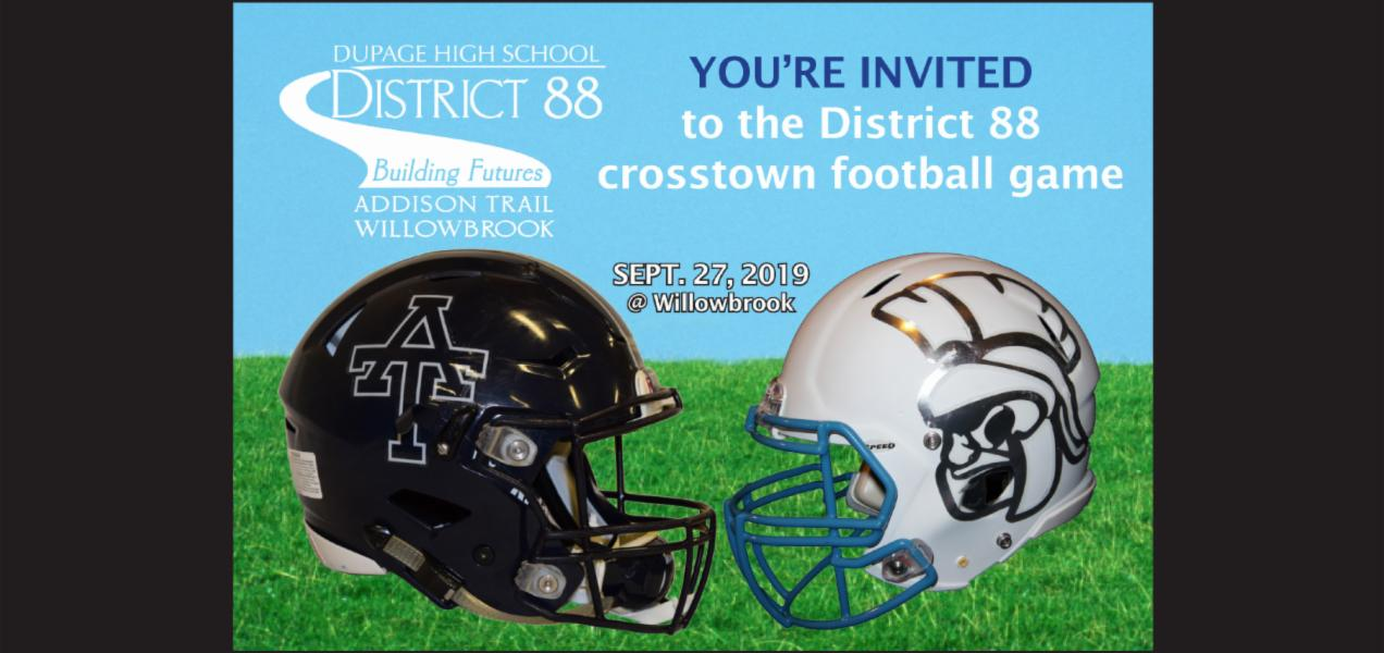 District 88 invites stakeholders to attend Crosstown Classic Football Game