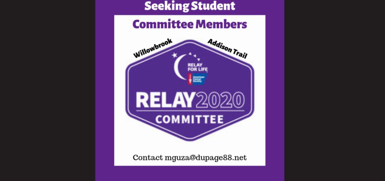 Relay For Life of District 88 Youth seeking Student Committee members