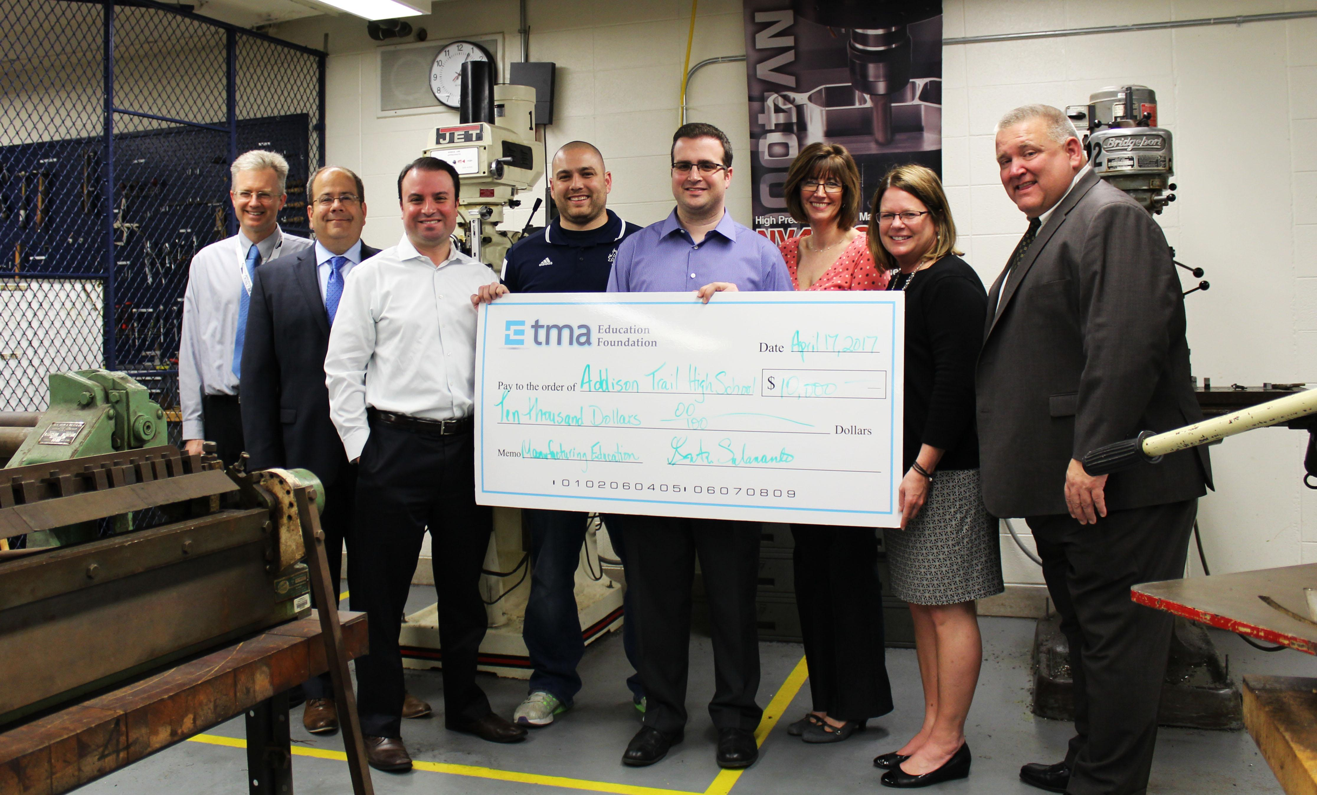 District 88 receives $10,000 grant from TMA Education Foundation to benefit students