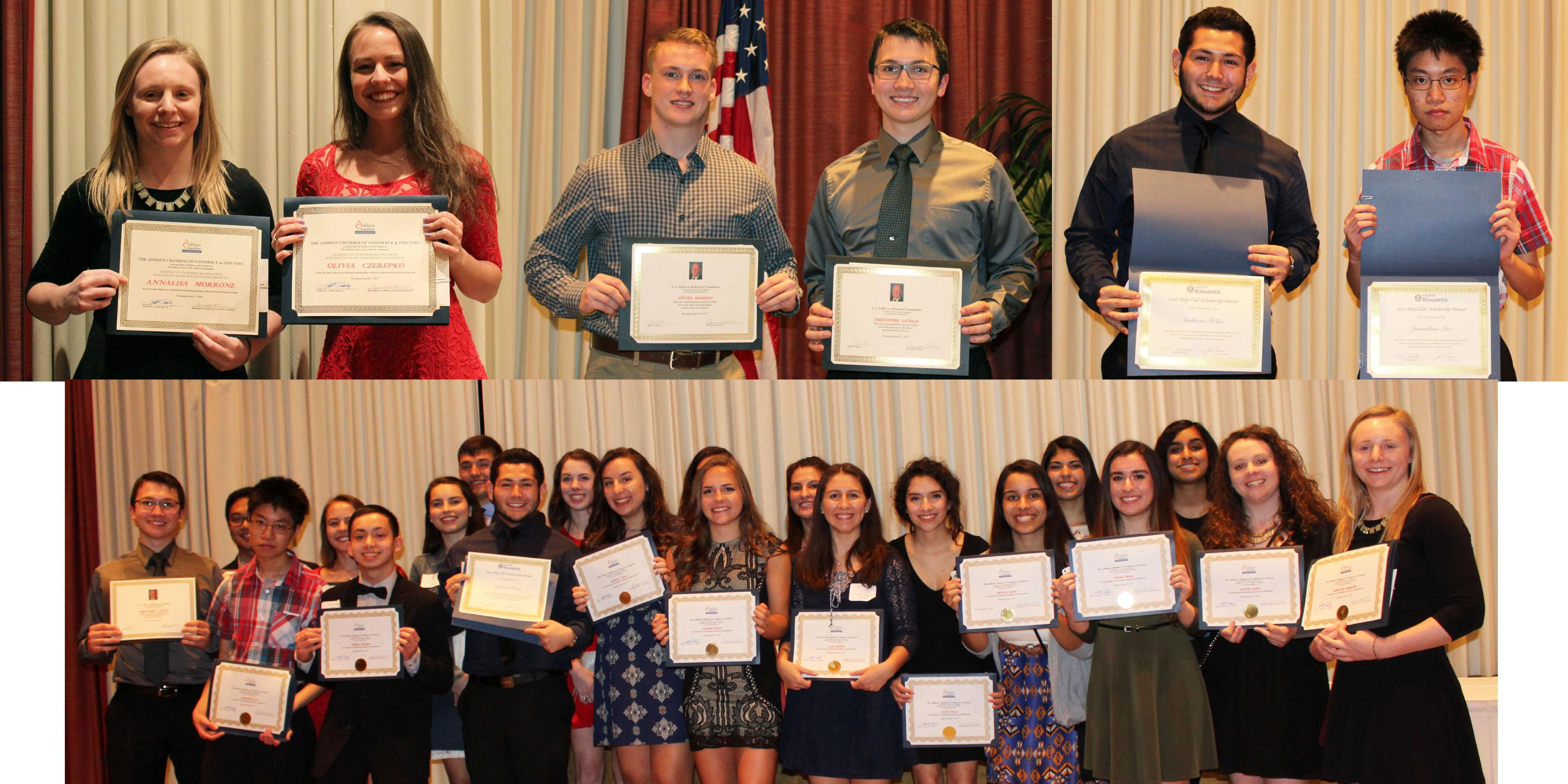 Addison Trail students recognized during Addison Chamber of Commerce & Industry Student Honors Banquet