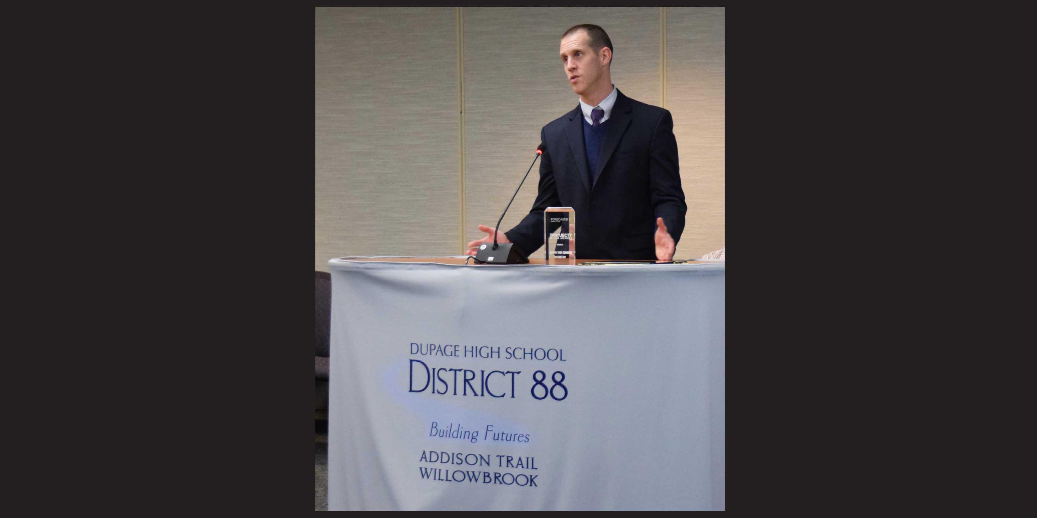 District 88 receives award for work with data project to enhance student learning