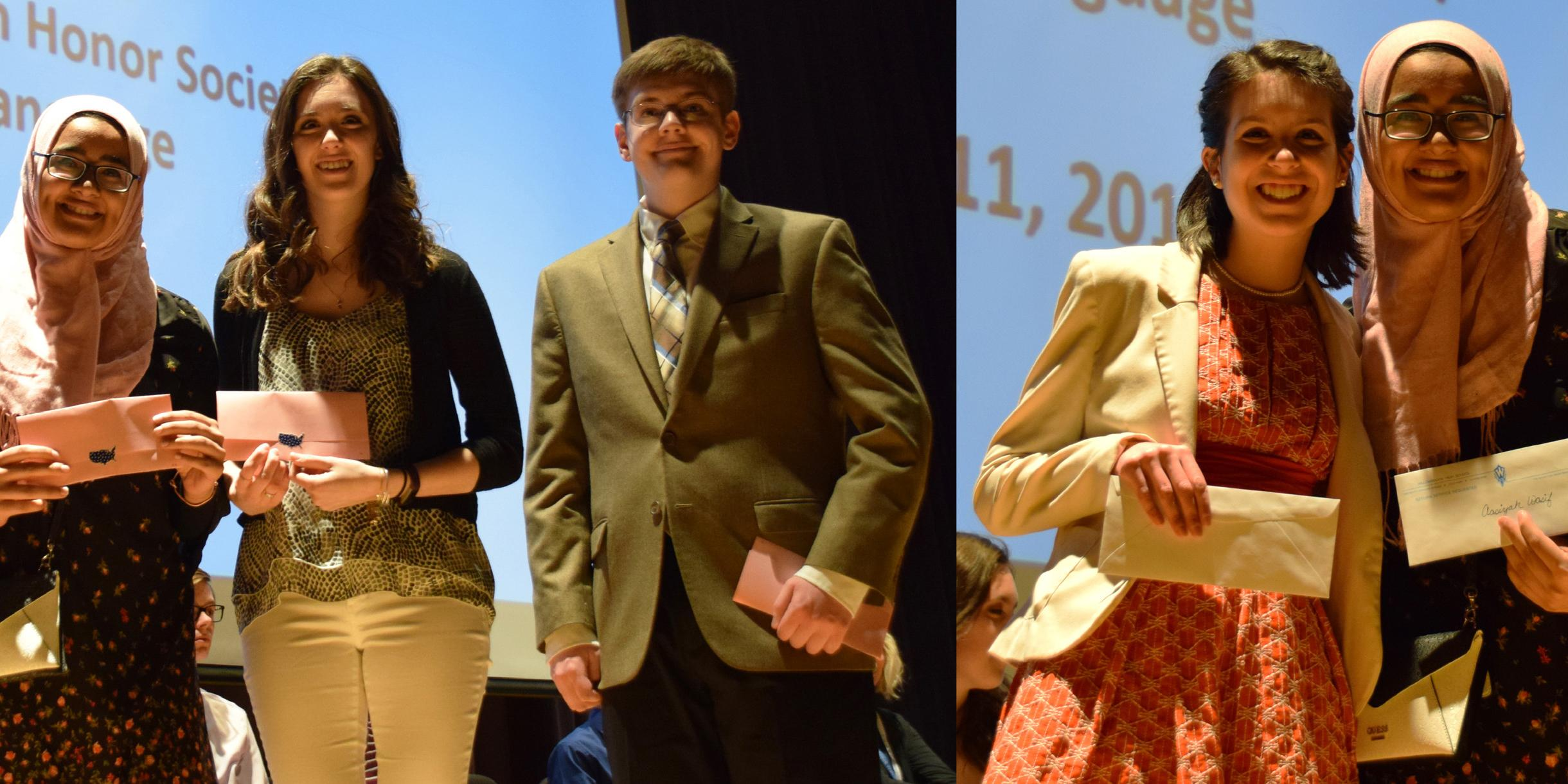 Willowbrook hosts joint ceremony for four honor societies