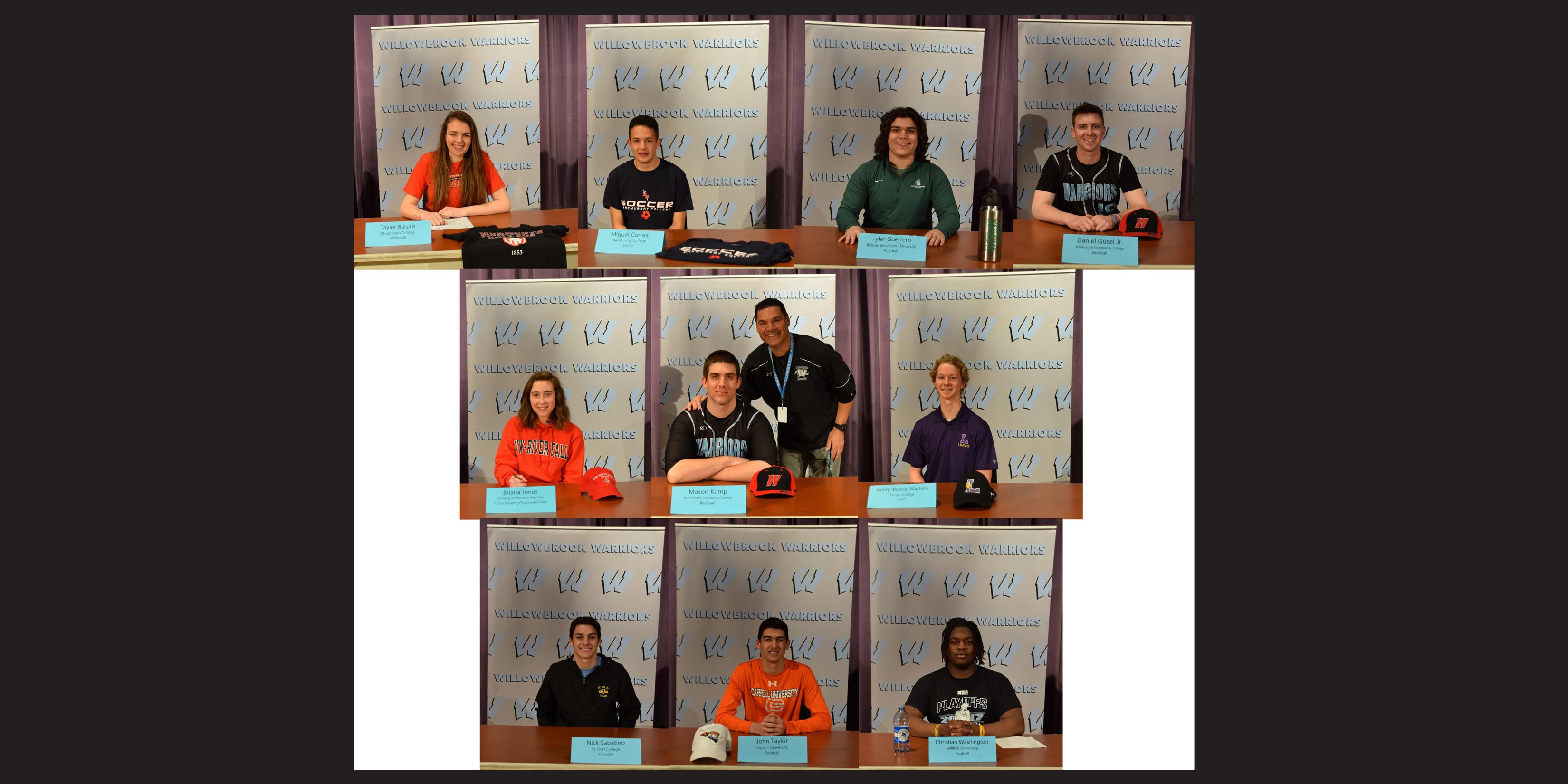 Willowbrook hosts National Letter of Intent Signing Day