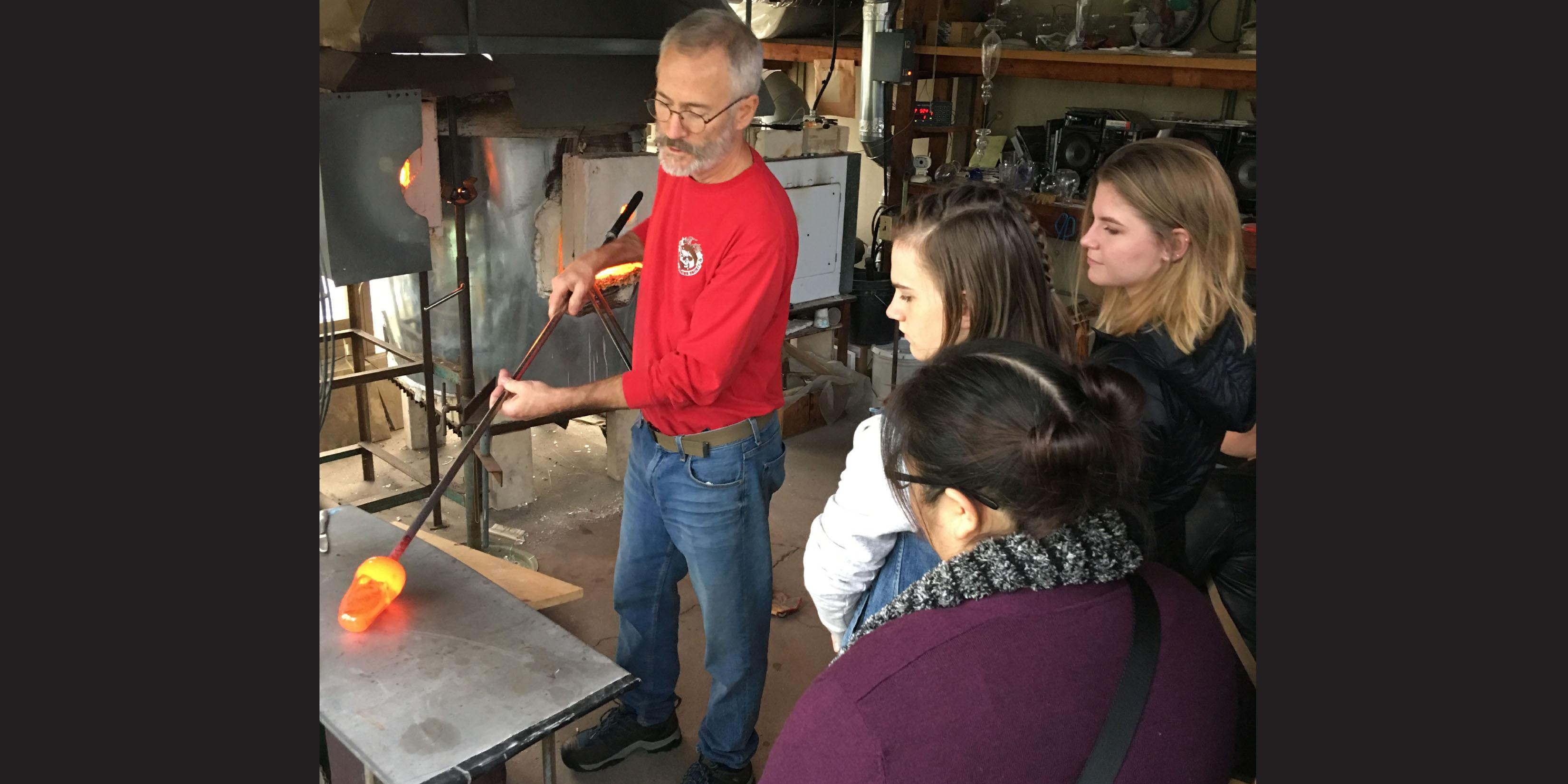 Willowbrook students visit local freeblown glass studio and art fair