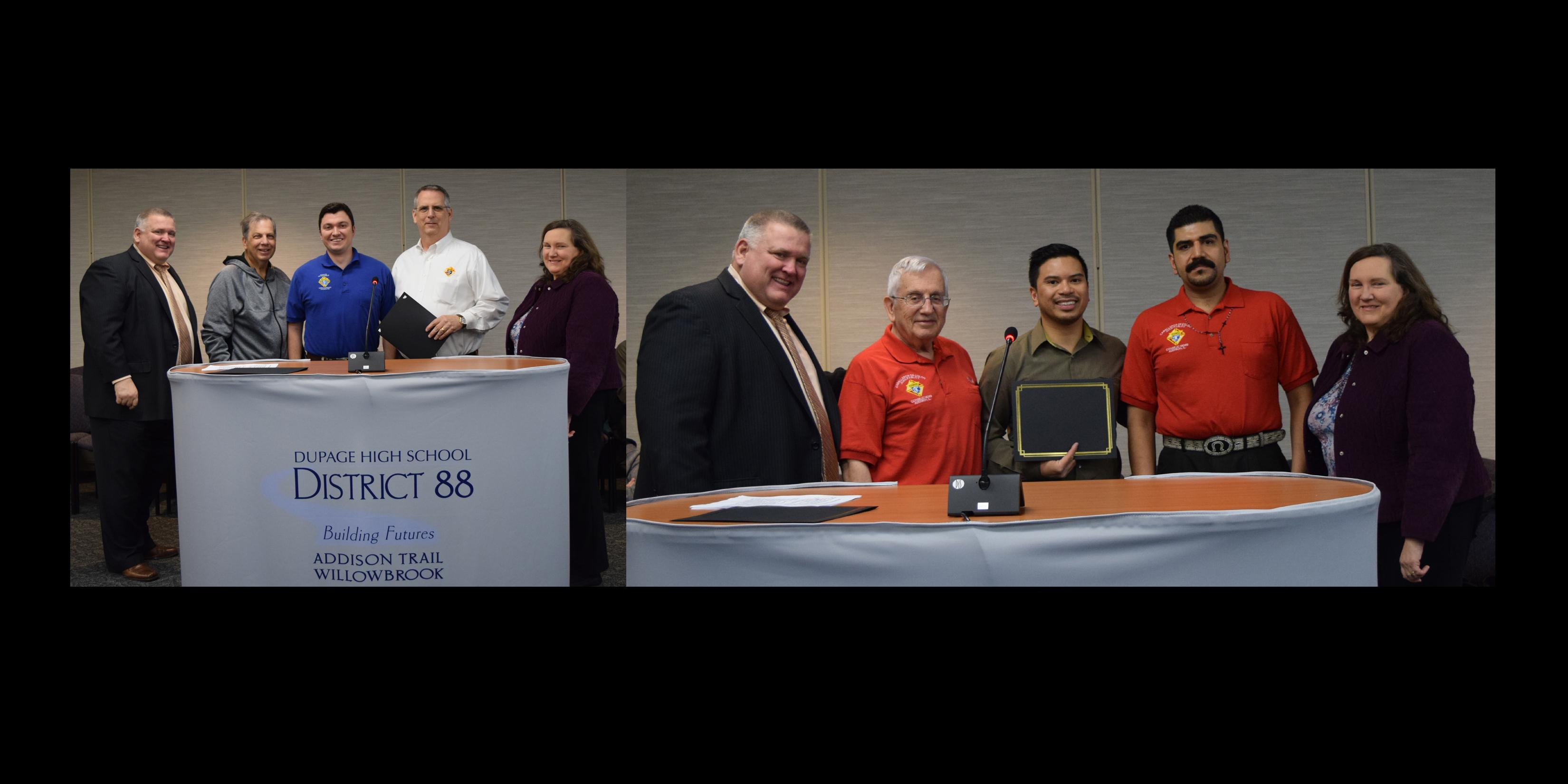District 88 Board of Education recognizes three Business Partners