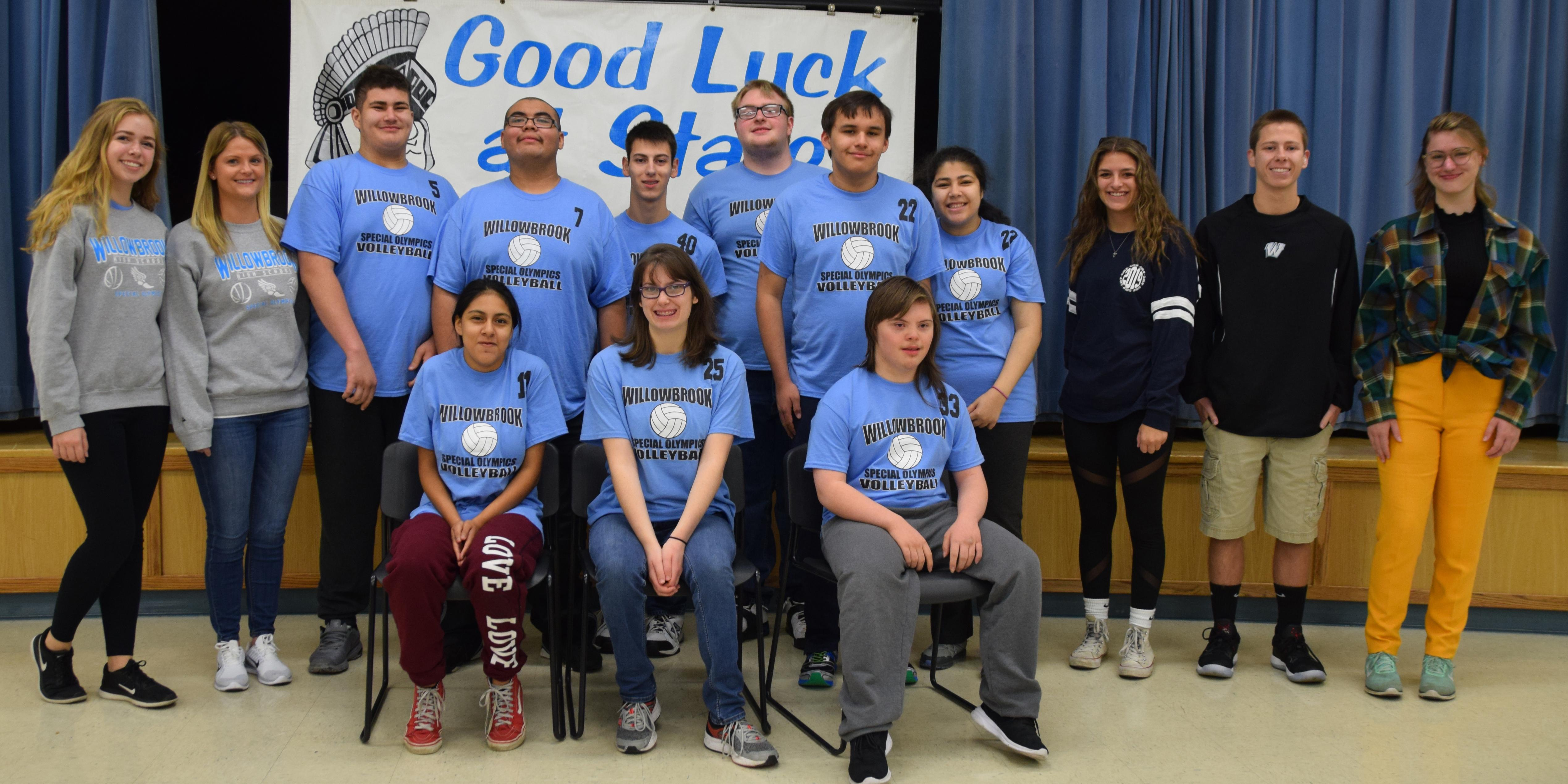 Willowbrook hosts State send-off celebration for Special Olympics Volleyball Team
