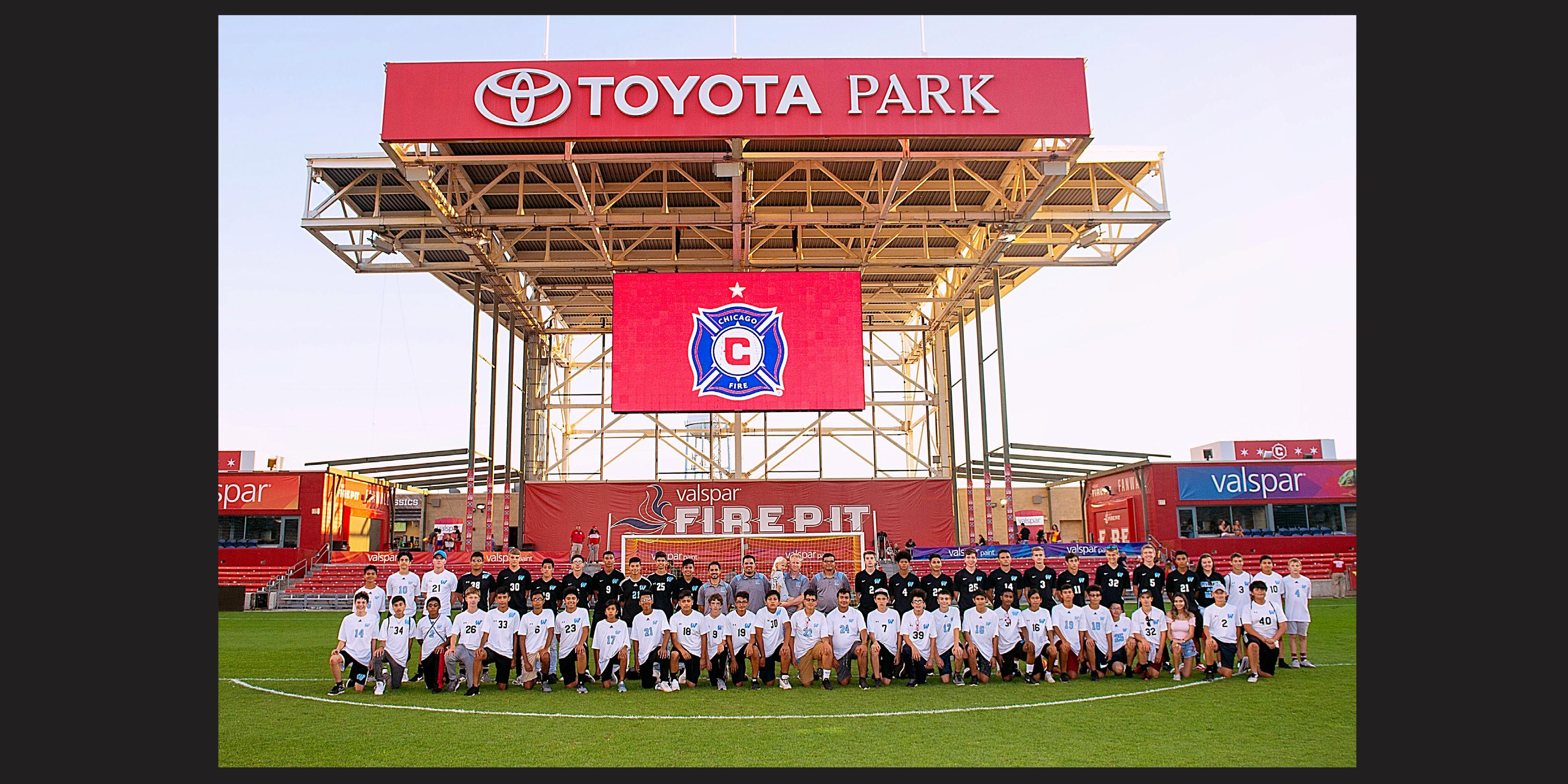 Willowbrook Boys Soccer Team visits Toyota Park for Chicago Fire Soccer Club game