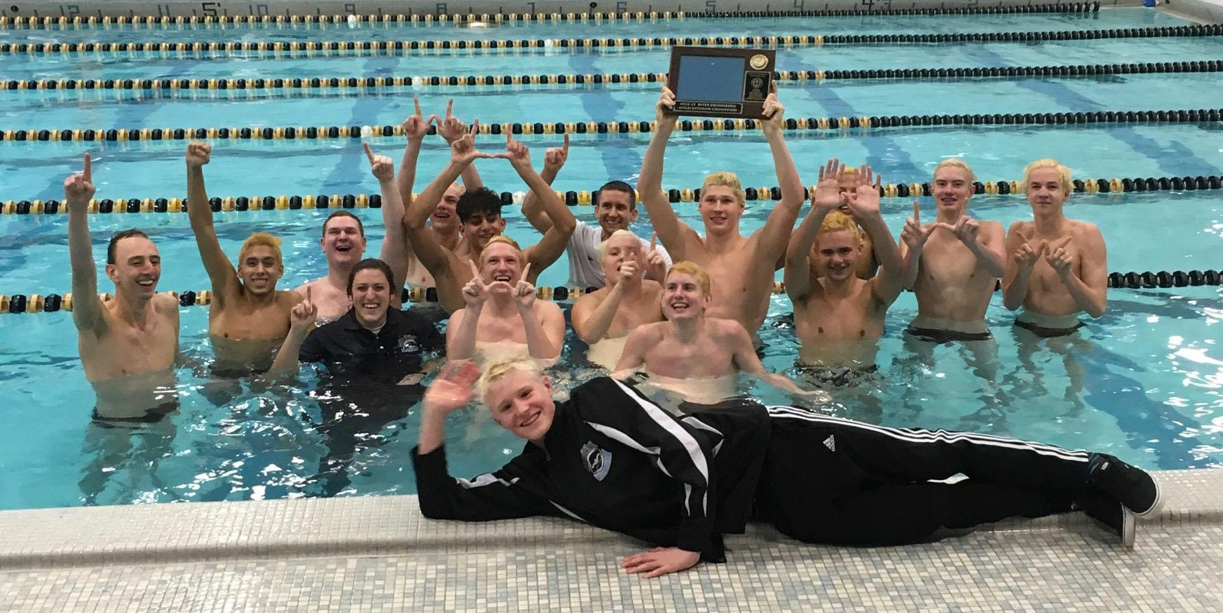 Addison Trail-Willowbrook Boys Swim Team wins first Boys Swimming WSC Championship in school history