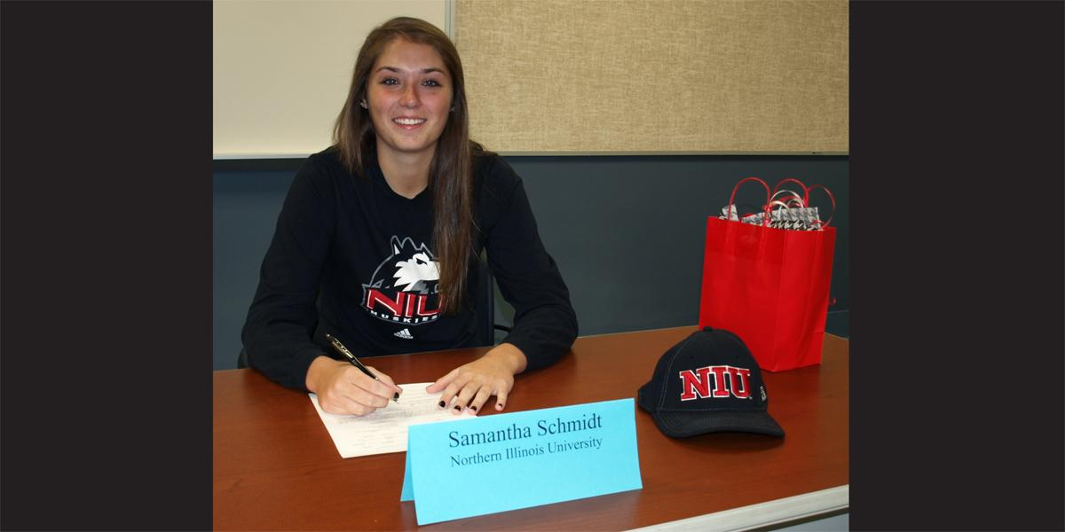 Willowbrook senior signs letter of intent to play softball at Northern Illinois University