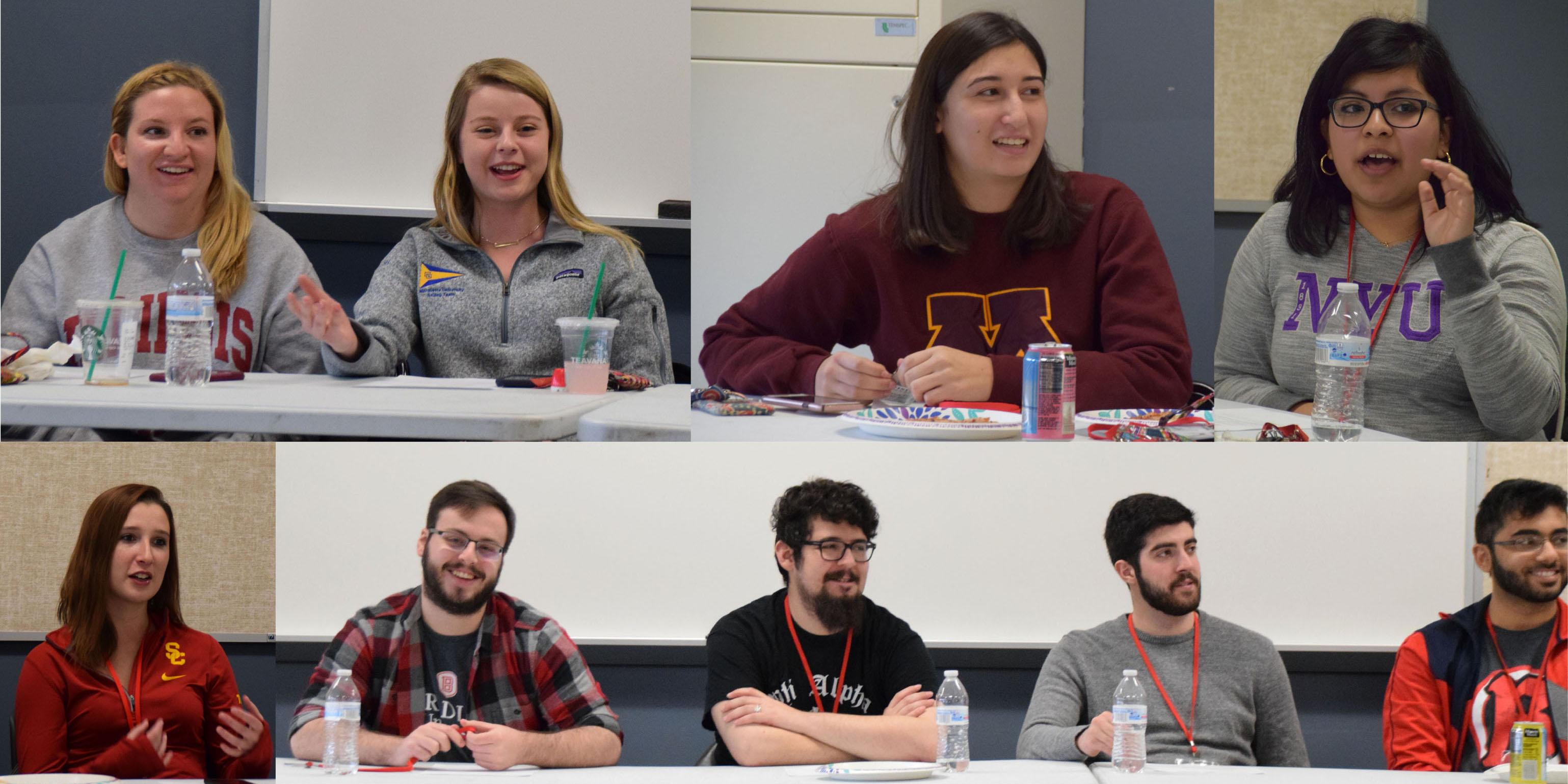 Willowbrook alumni speak with students about dual-credit and Advanced Placement (AP)/college-level courses