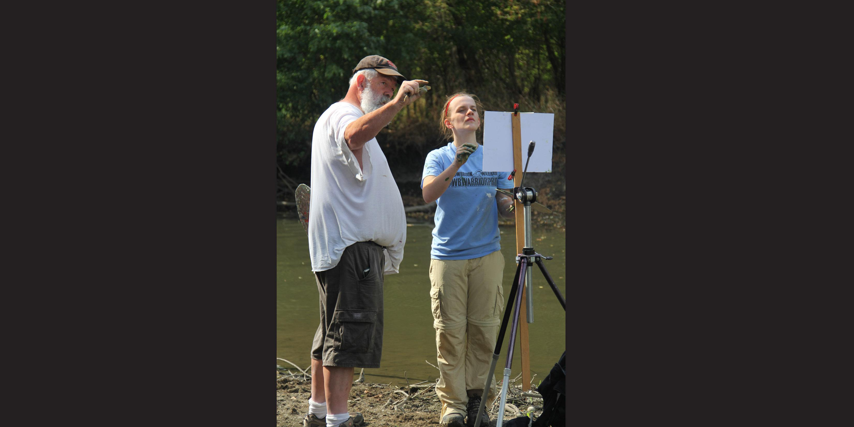 Professional artist teaches Willowbrook students about 'en plein air' painting