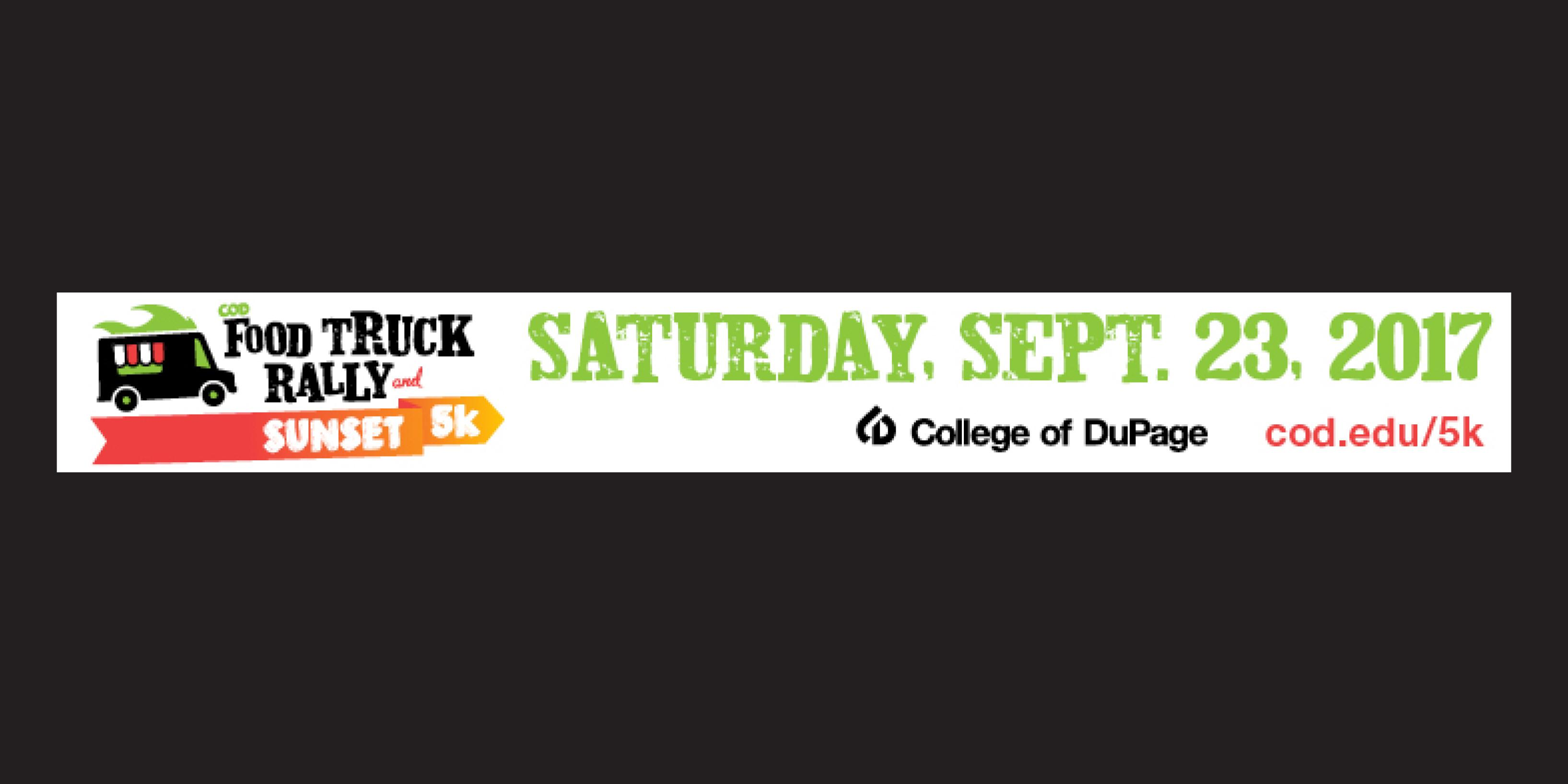 College of DuPage Food Truck Rally & Sunset 5K to benefit District 88 students