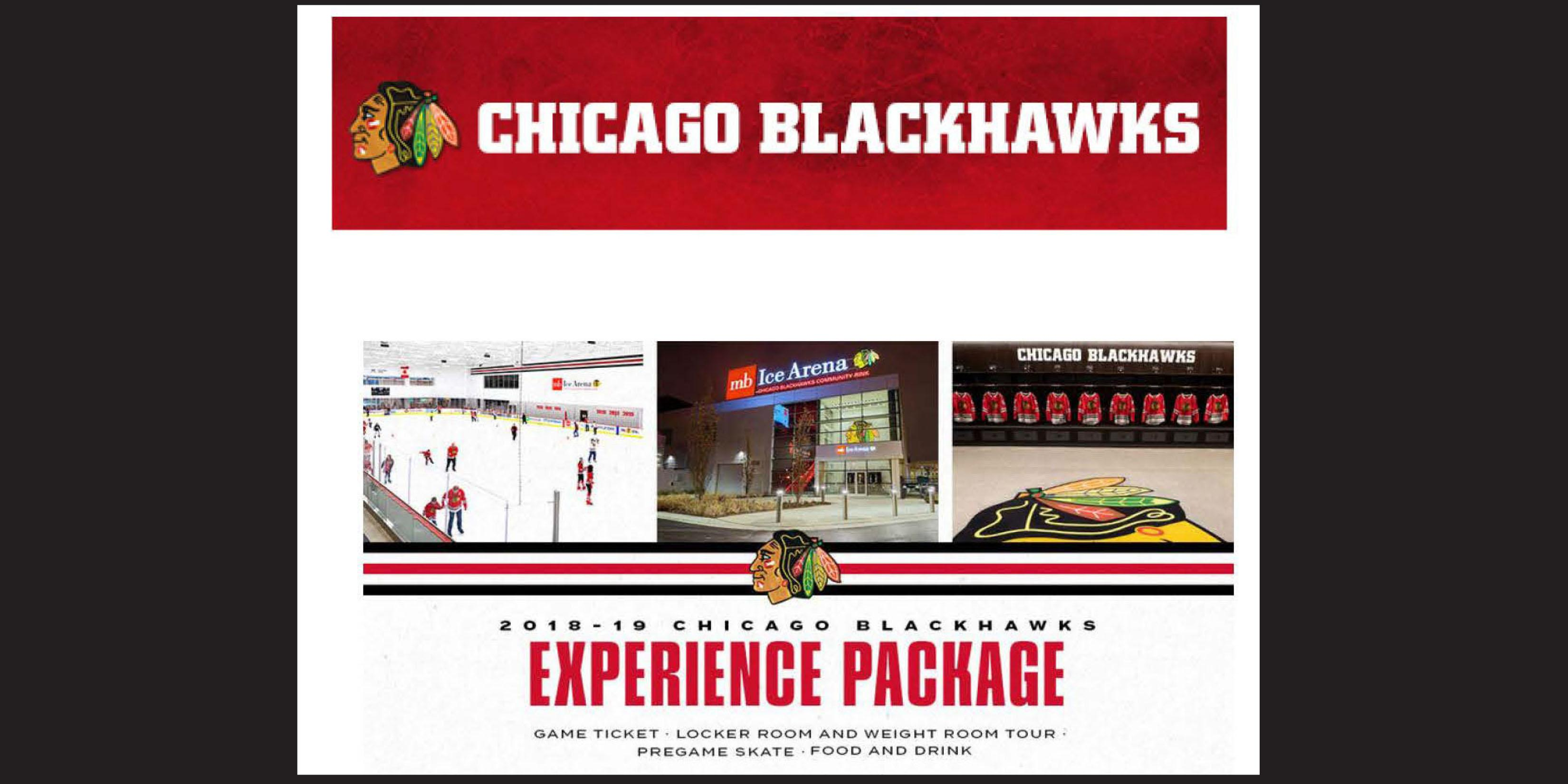 IMPORTANT UPDATE/DATE CHANGE: Join the District 88 Foundation for a Blackhawks Experience Package