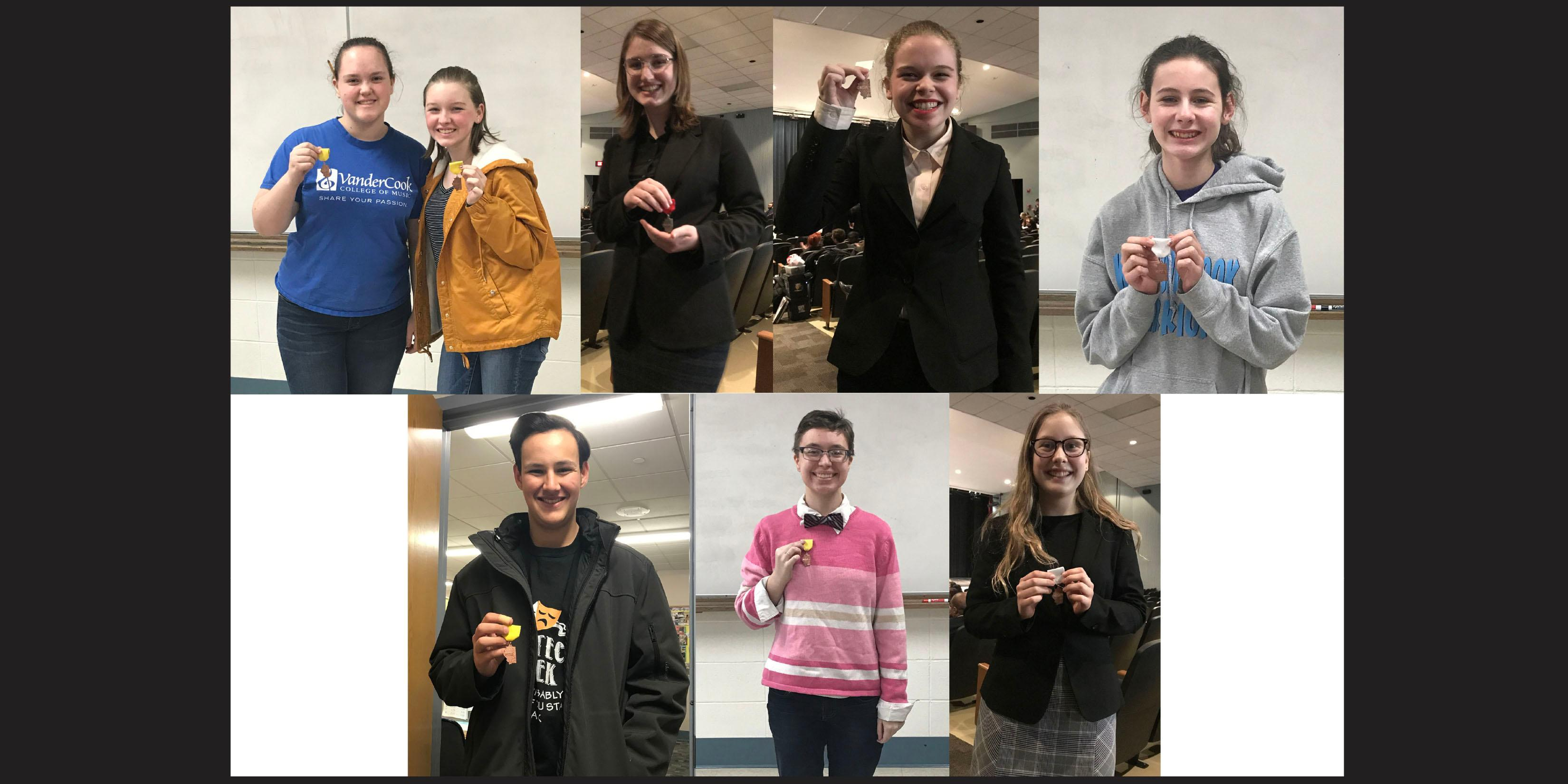 Eight Willowbrook Speech Team events compete in Sectional contest
