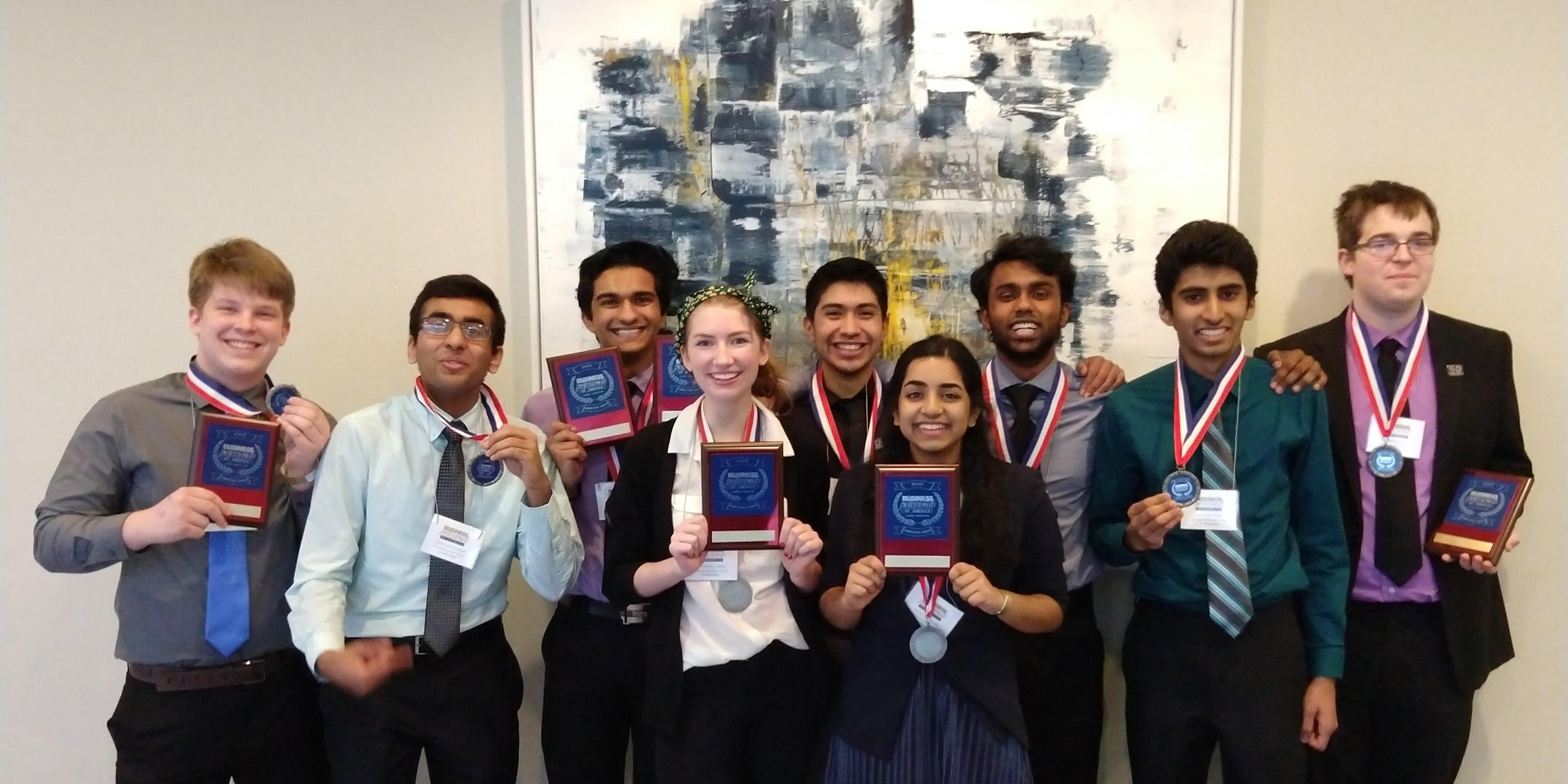 Eight Willowbrook students qualify for 2018 BPA National Leadership Conference