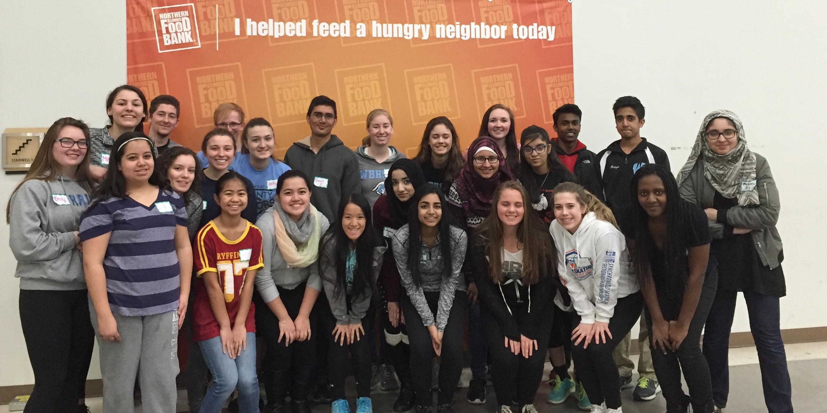 Willowbrook students volunteer at Northern Illinois Food Bank
