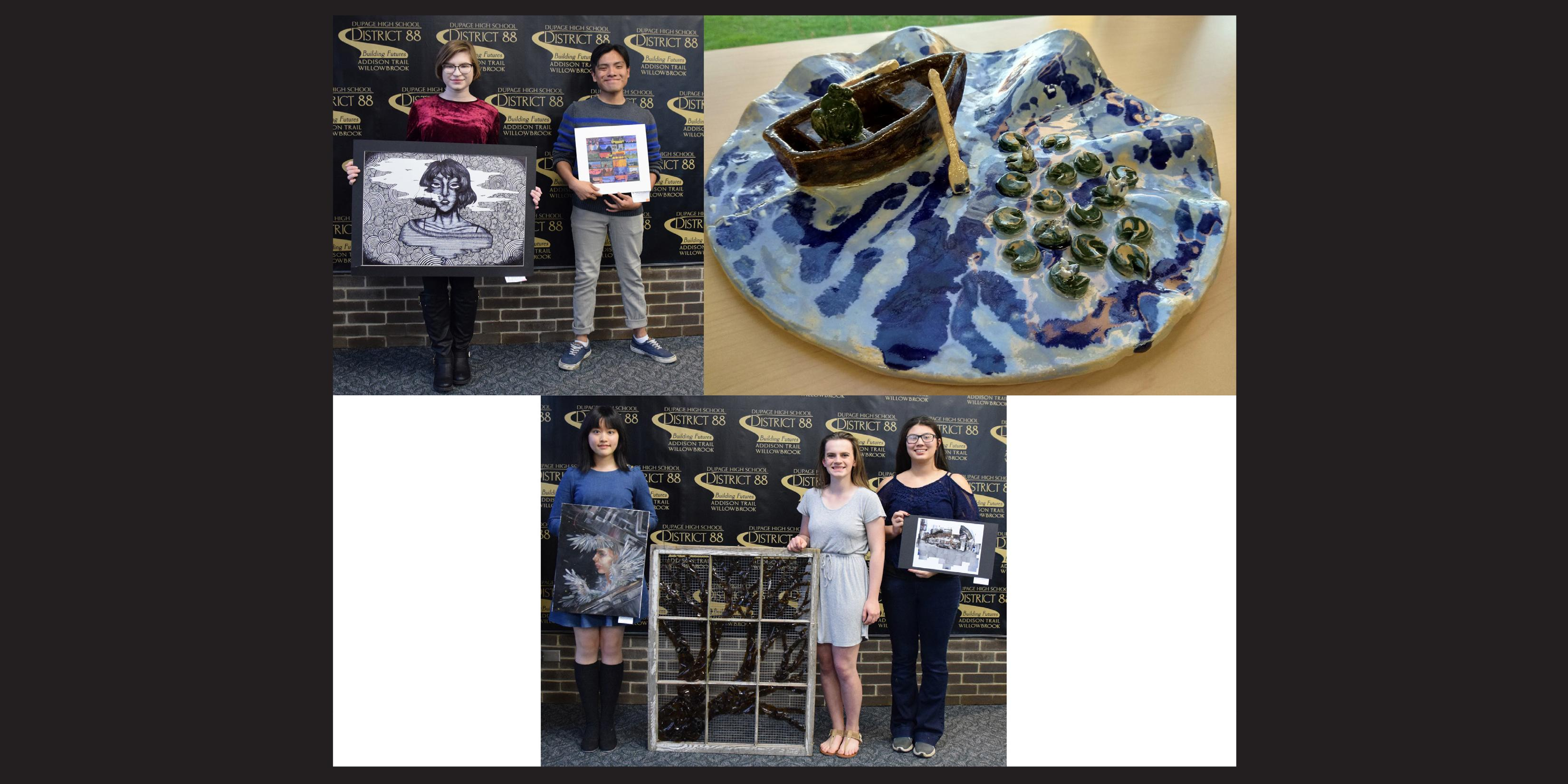 Six District 88 students named as District 88 Art Scholarship recipients