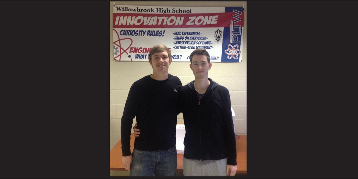 Two Willowbrook seniors named as regional semifinalists in 2015 Extreme Redesign 3D Printing Challenge