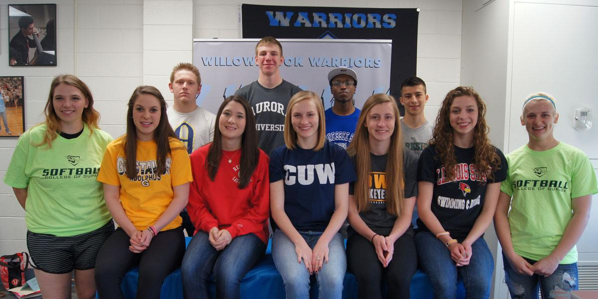 Willowbrook hosts National Letter of Intent Signing Day for 13 student-athletes