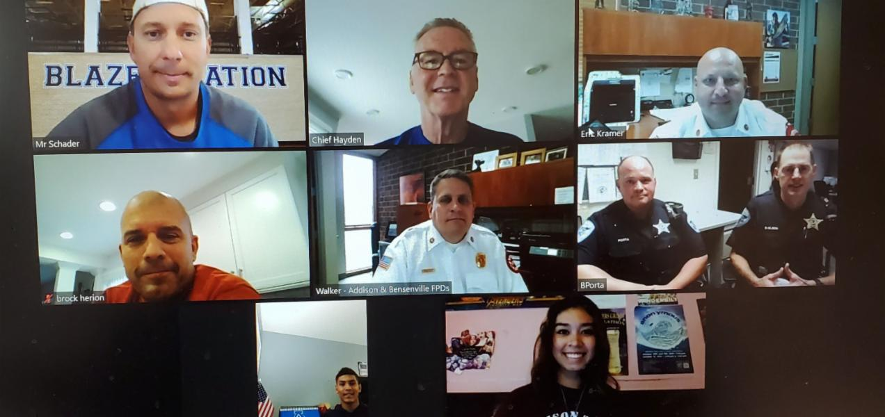 Addison Trail students interview first responders to honor and remember Sept. 11, 2001