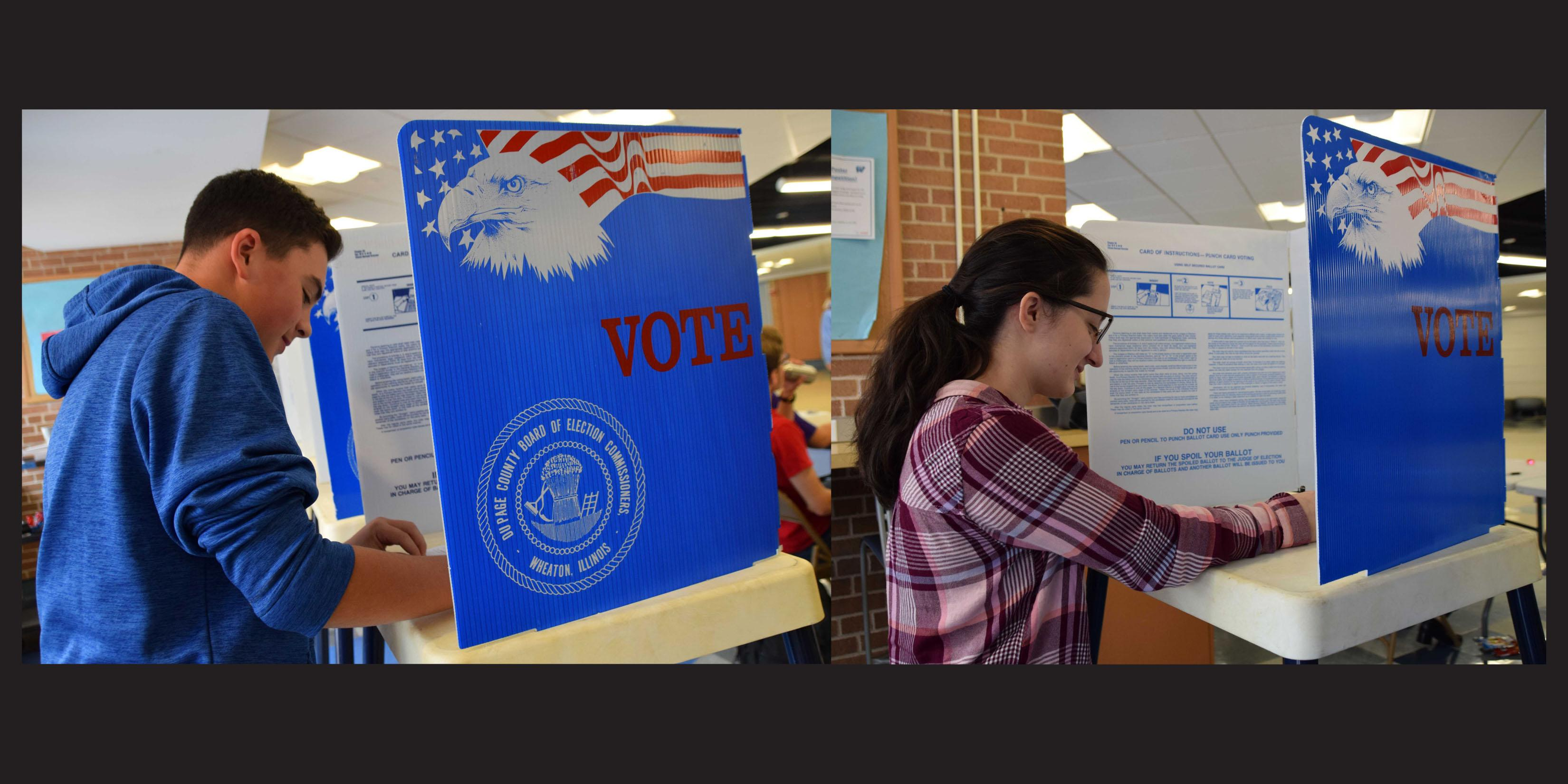 Willowbrook students participate in mock election