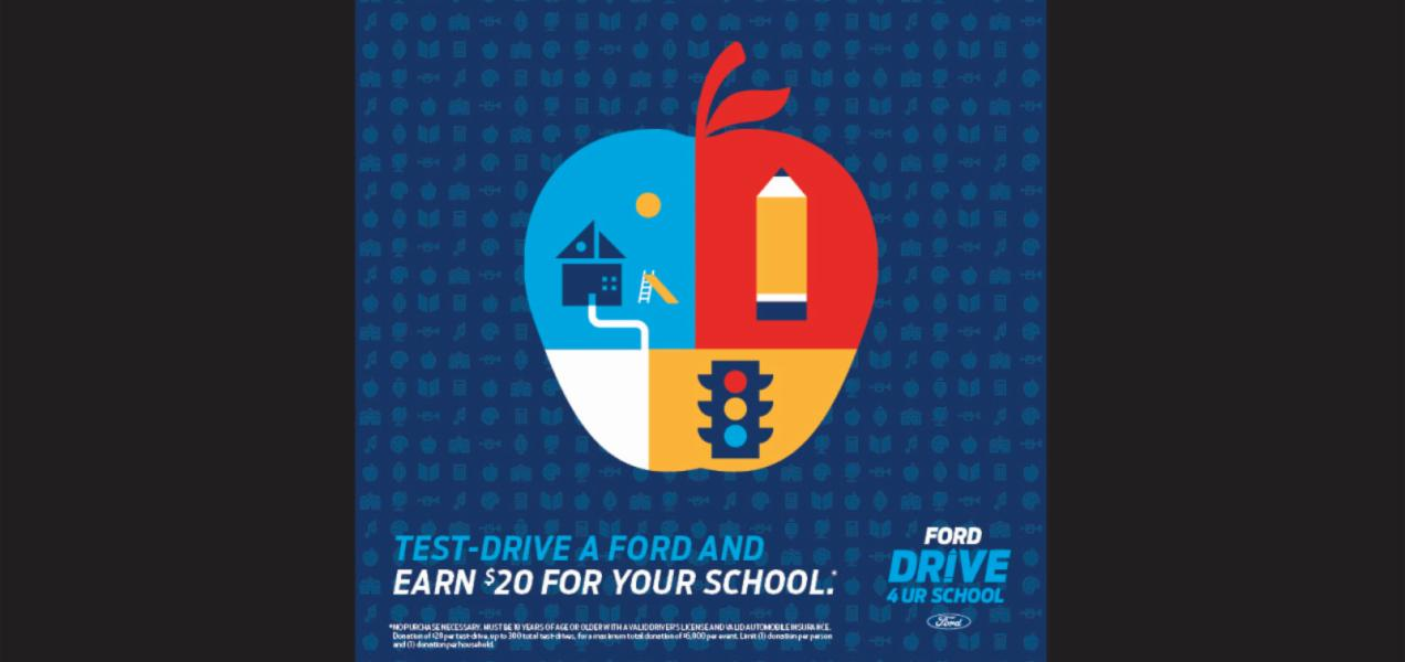 Test-drive a Ford to raise money to support Addison Trail and Willowbrook students