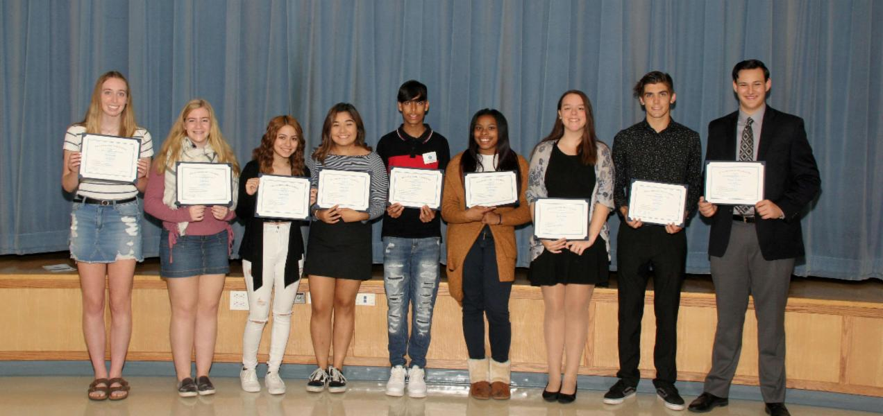 Willowbrook presents 2019-20 first-quarter Outstanding Students and Outstanding Teacher